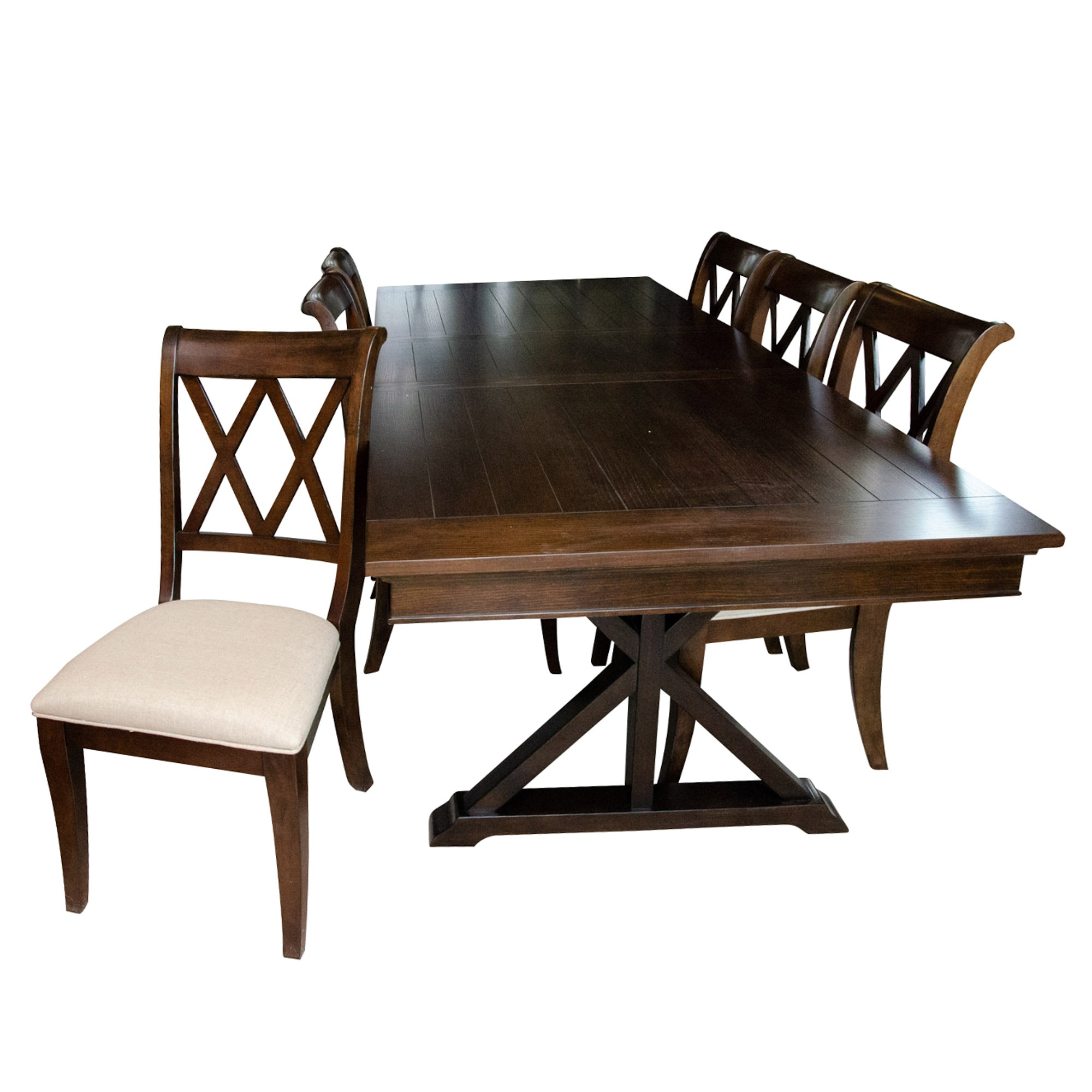 Legacy Classic Contemporary Oak and Wood Dining Table and Chairs