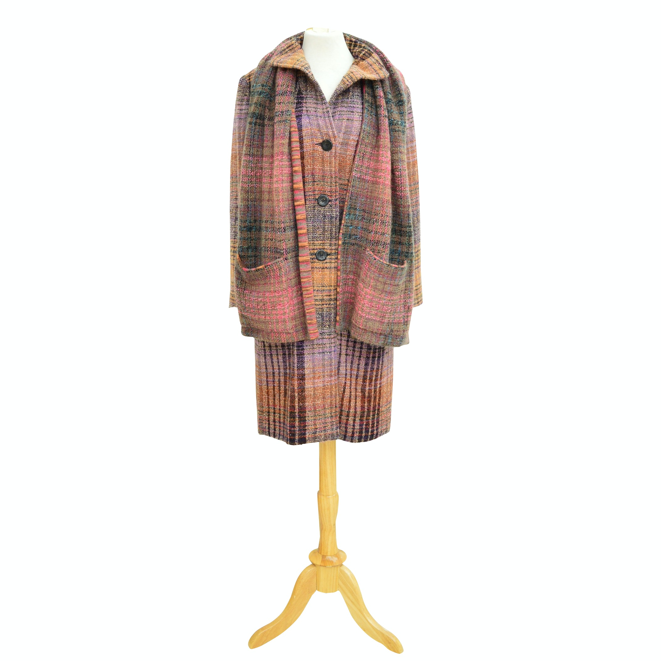 Missoni Orange Label Wool Knit Peacoat and Scarf