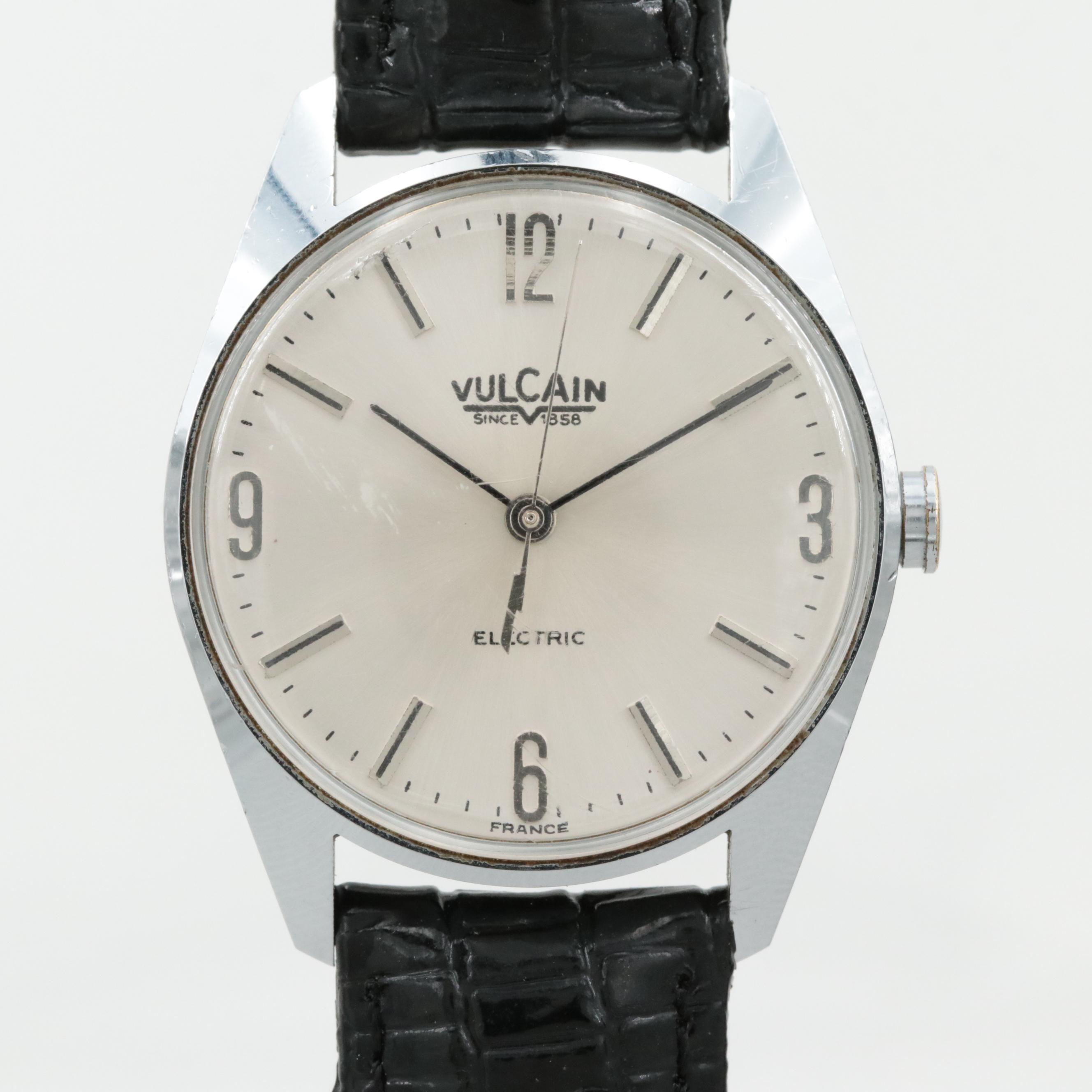 Vintage Vulcain Electric Silver Tone Wristwatch
