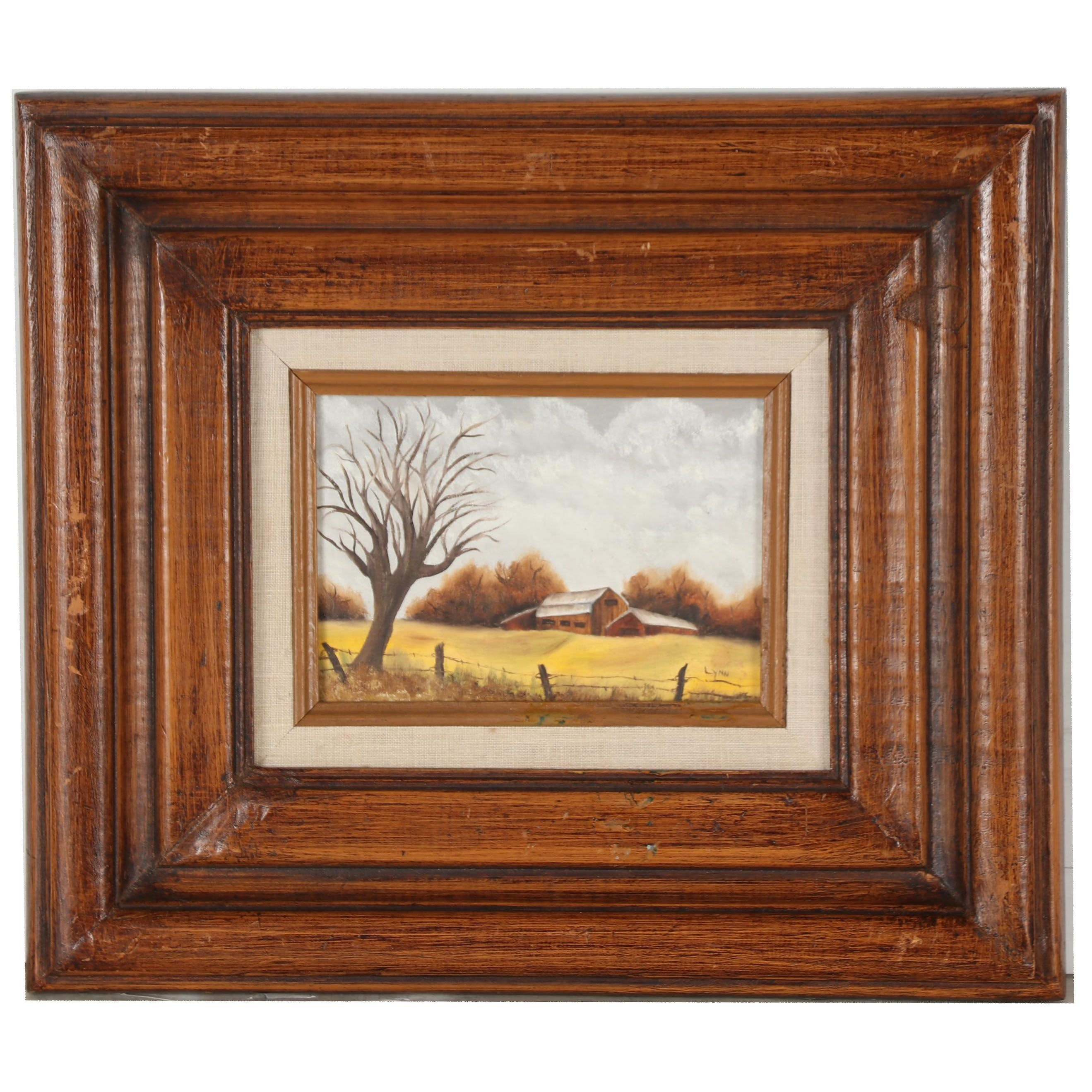 Doris Lynn Oil Painting of Autumnal Farmland