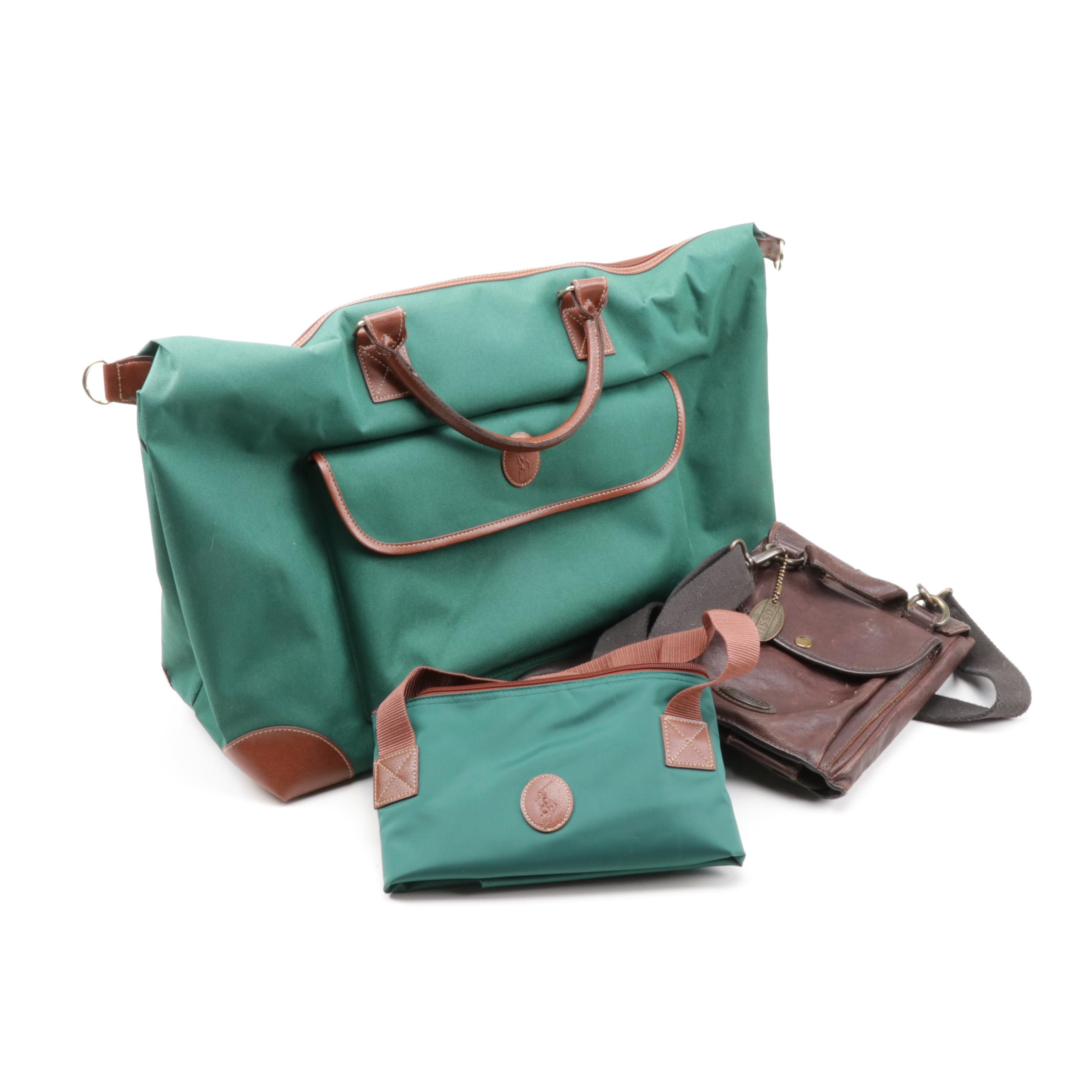 Ralph Lauren Tote and Duffel Bag, and Fossil Leather Crossbody iPad Bag
