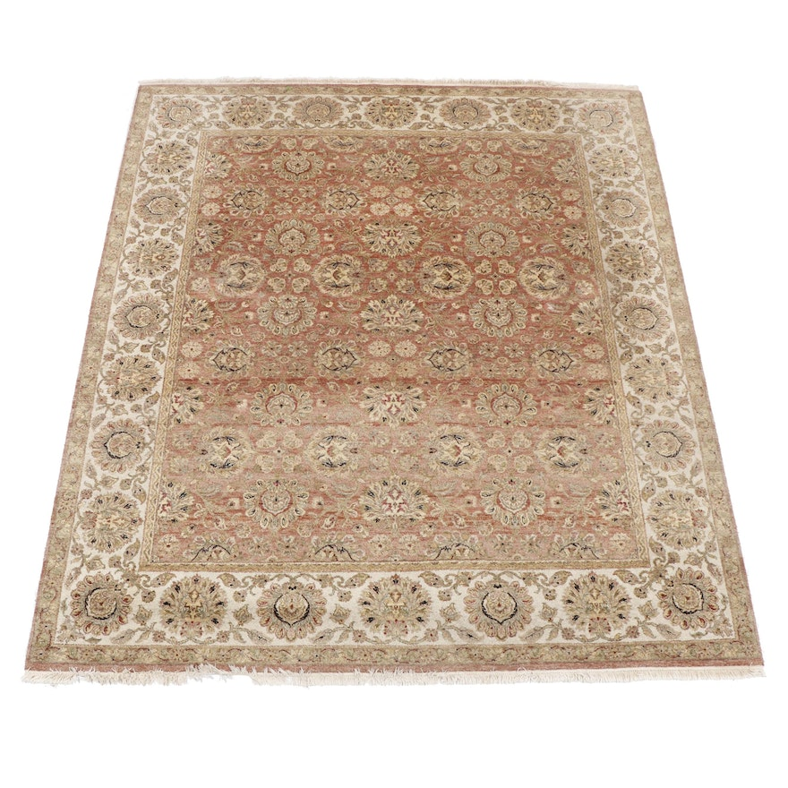 Hand-Knotted Indo-Persian Wool Rug