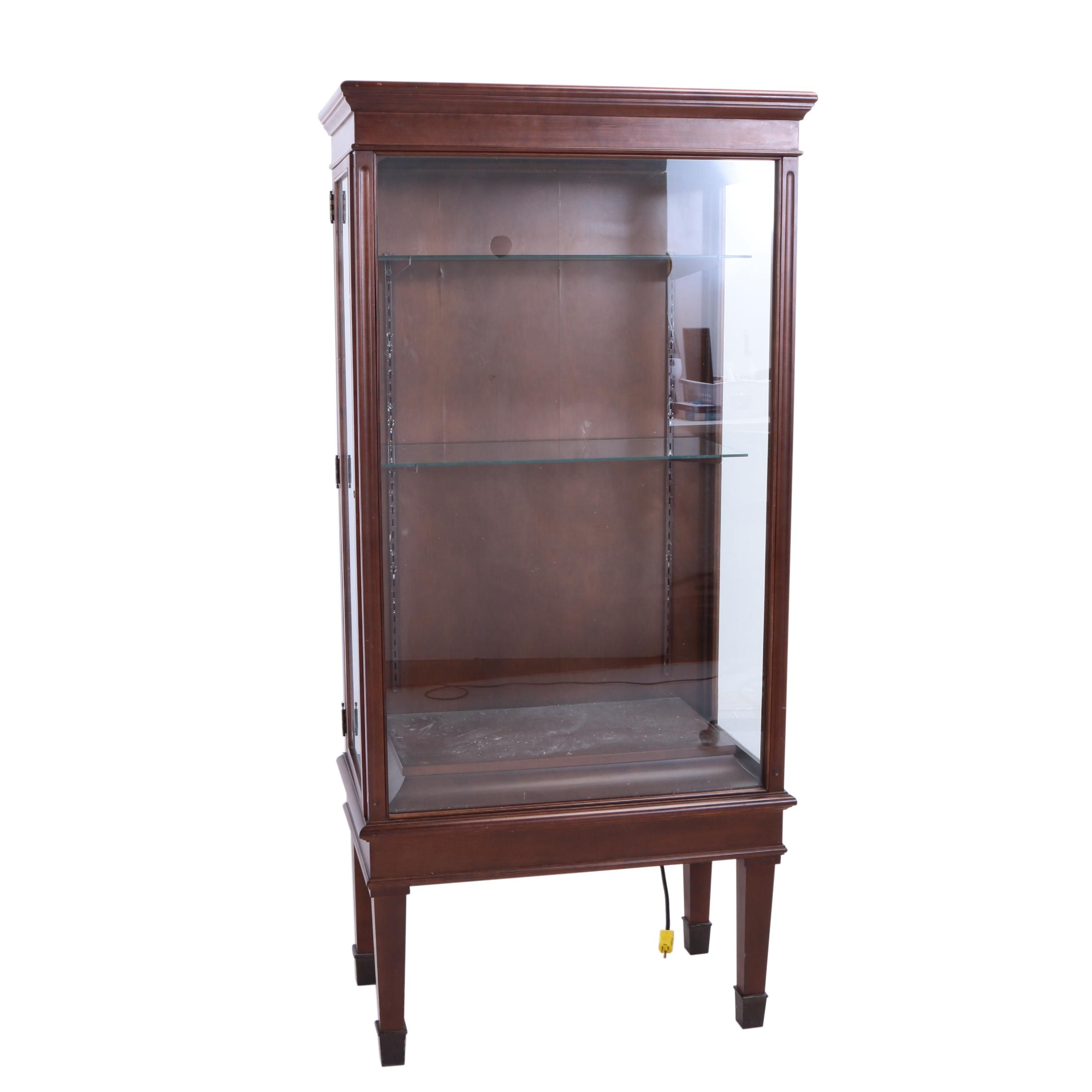 Mahogany-Stained Display Cabinet, 20th Century
