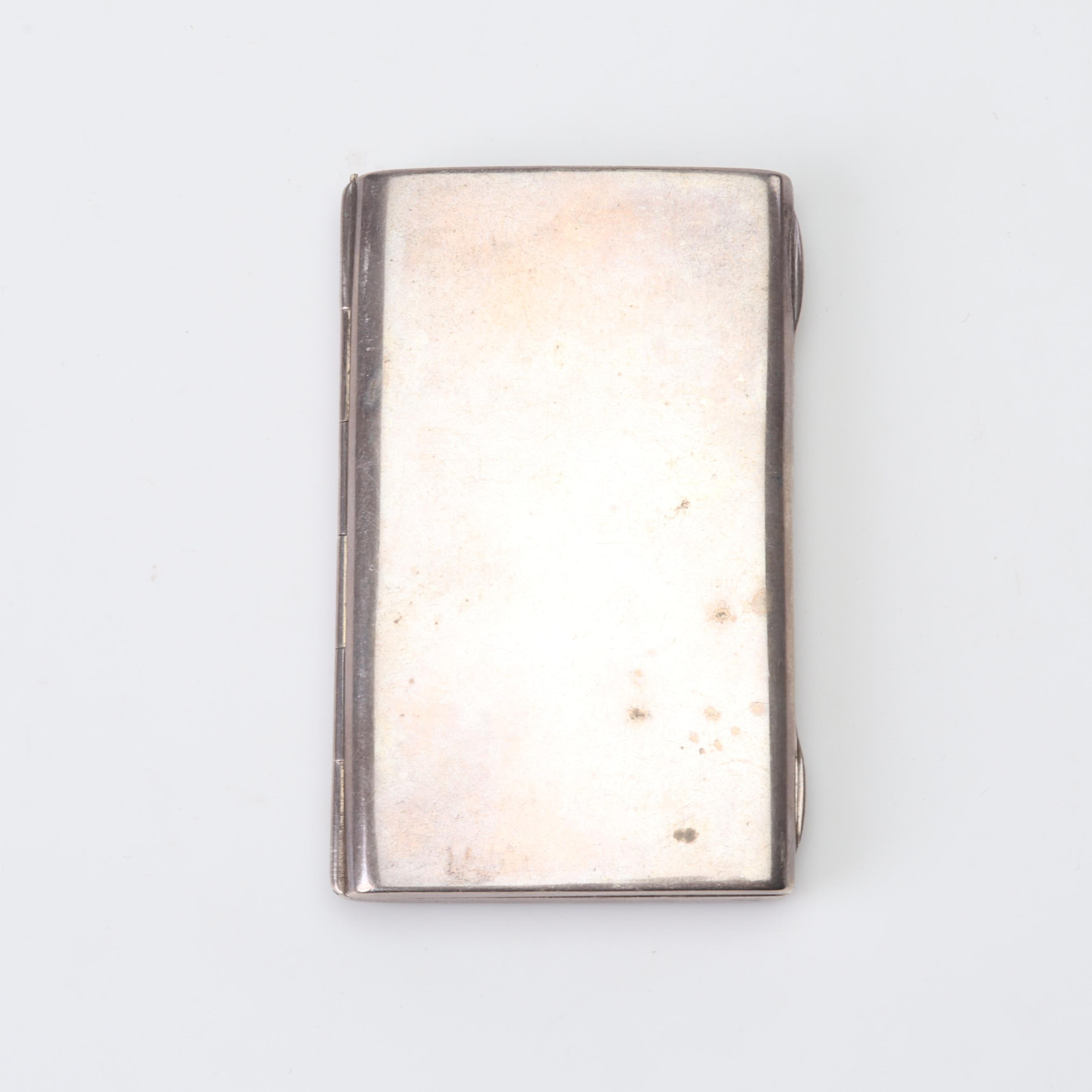 900 Silver Calling Card Case, Early 20th Century