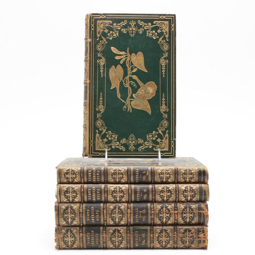 "1852-53 ""North American Sylva"" Five Volume Set"