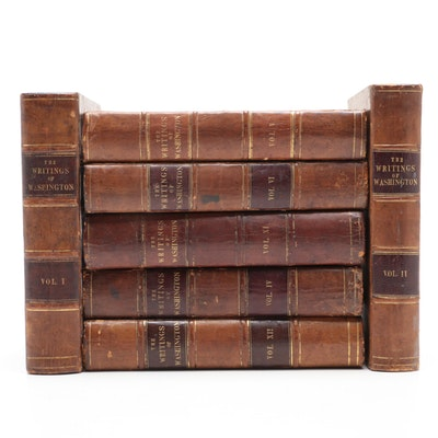 "1837 ""The Writings of George Washington"" Leather Bound Seven Volume Set"