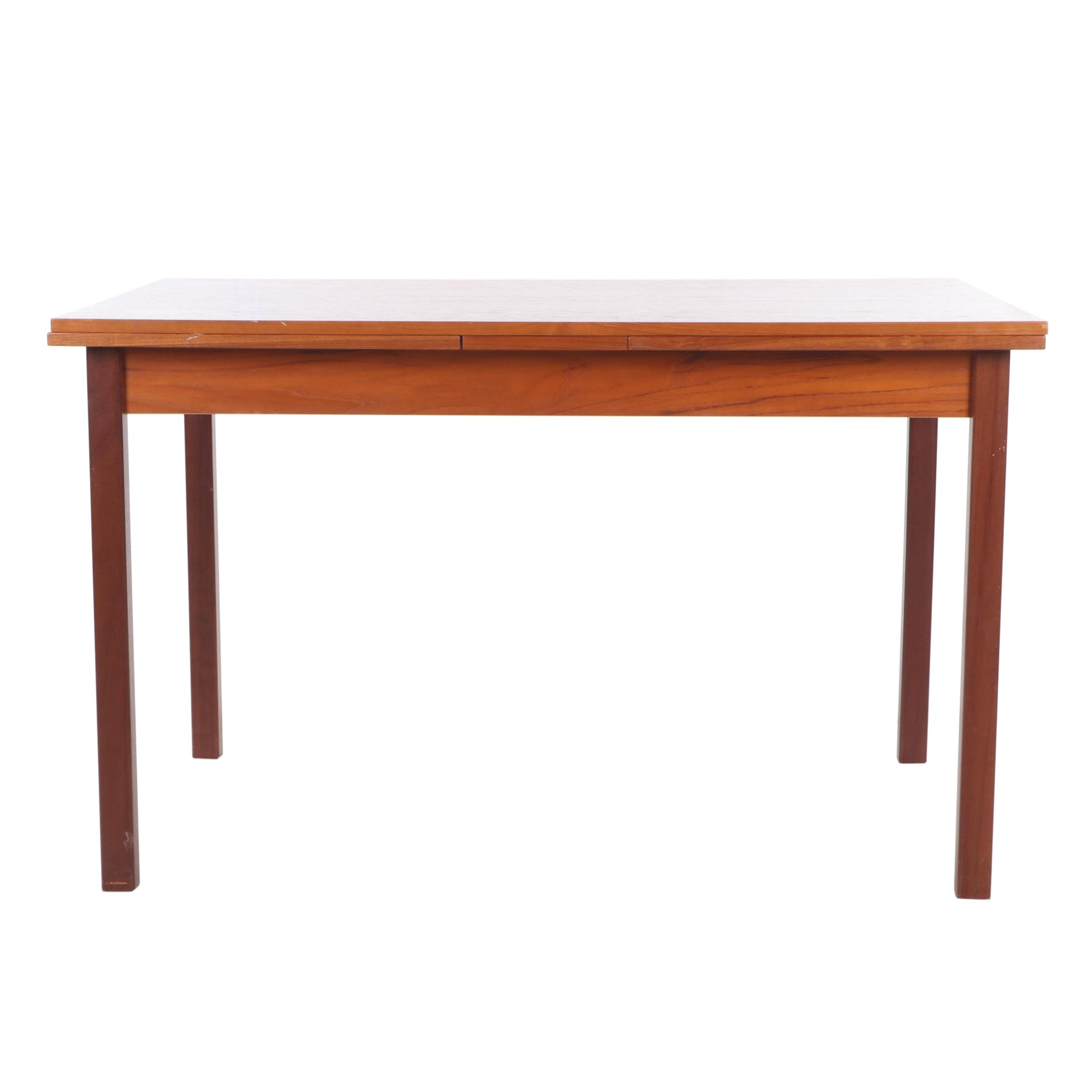 Mid-Century Brdr. Furbo Danish Modern Teak Extension Dining Table
