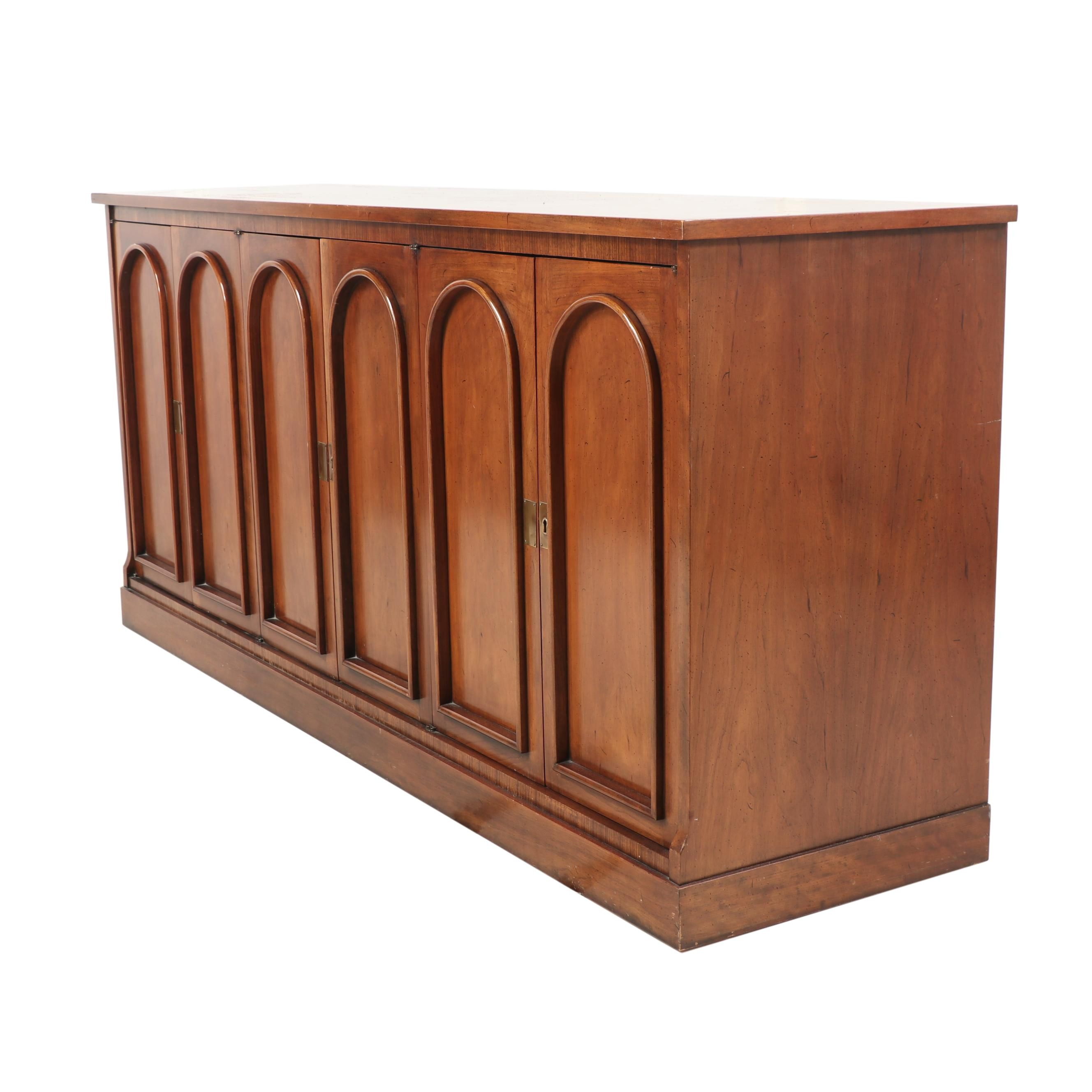 Wooden Credenza, Mid to Late 20th Century
