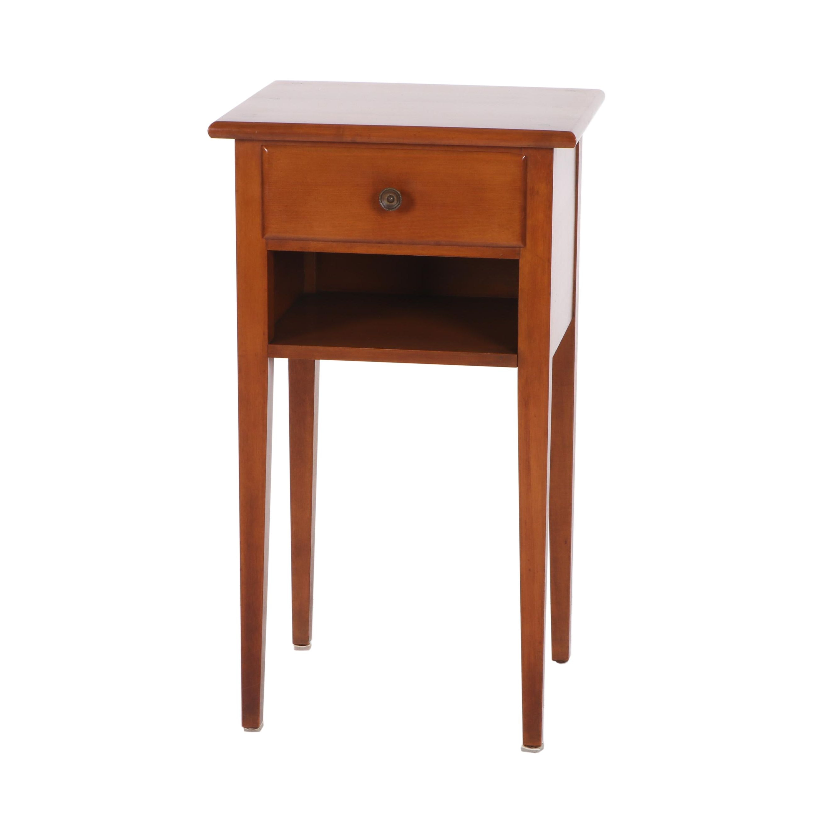"Kincaid Furniture ""Meeting House"" Hepplewhite Style Maple Nightstand"