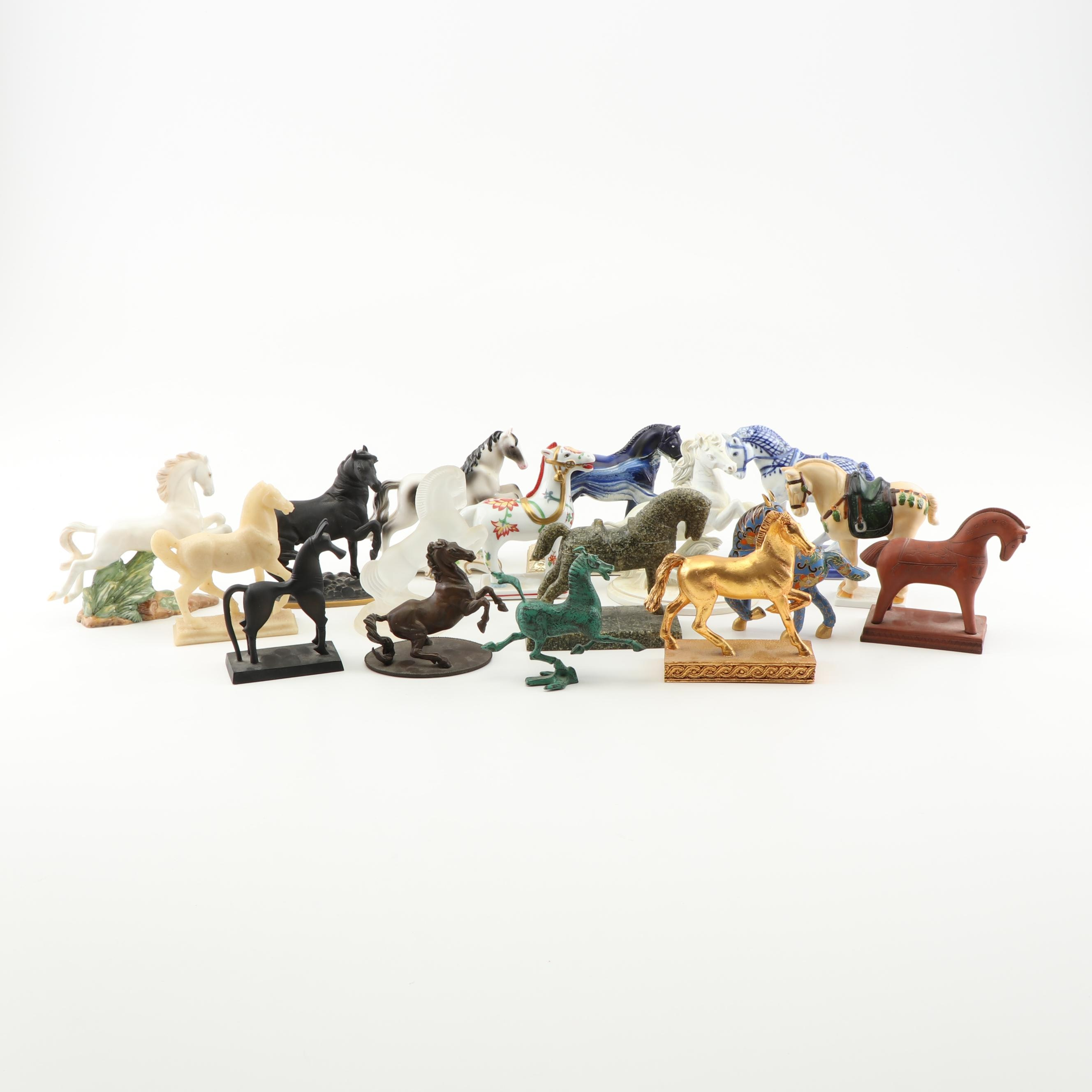 Franklin Mint Curator's Collection of Classic Horse Sculptures, Mid-Century