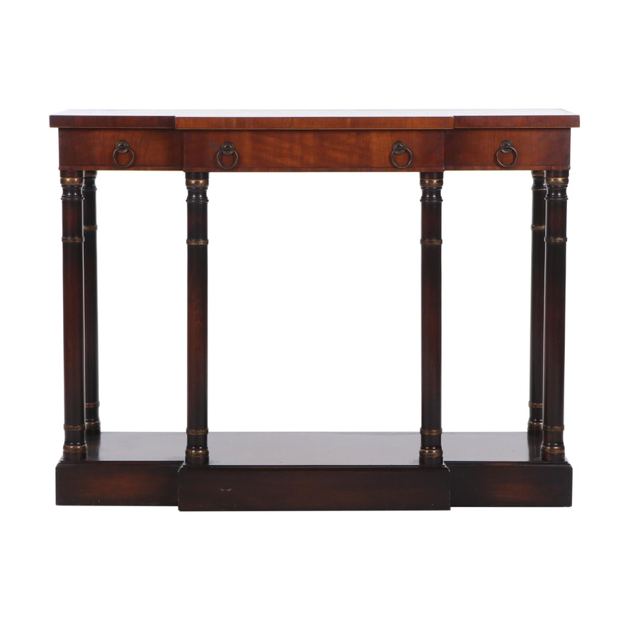 Fine Arts Furniture Neoclassical Style Mahogany Sofa Table, Mid 20th Century