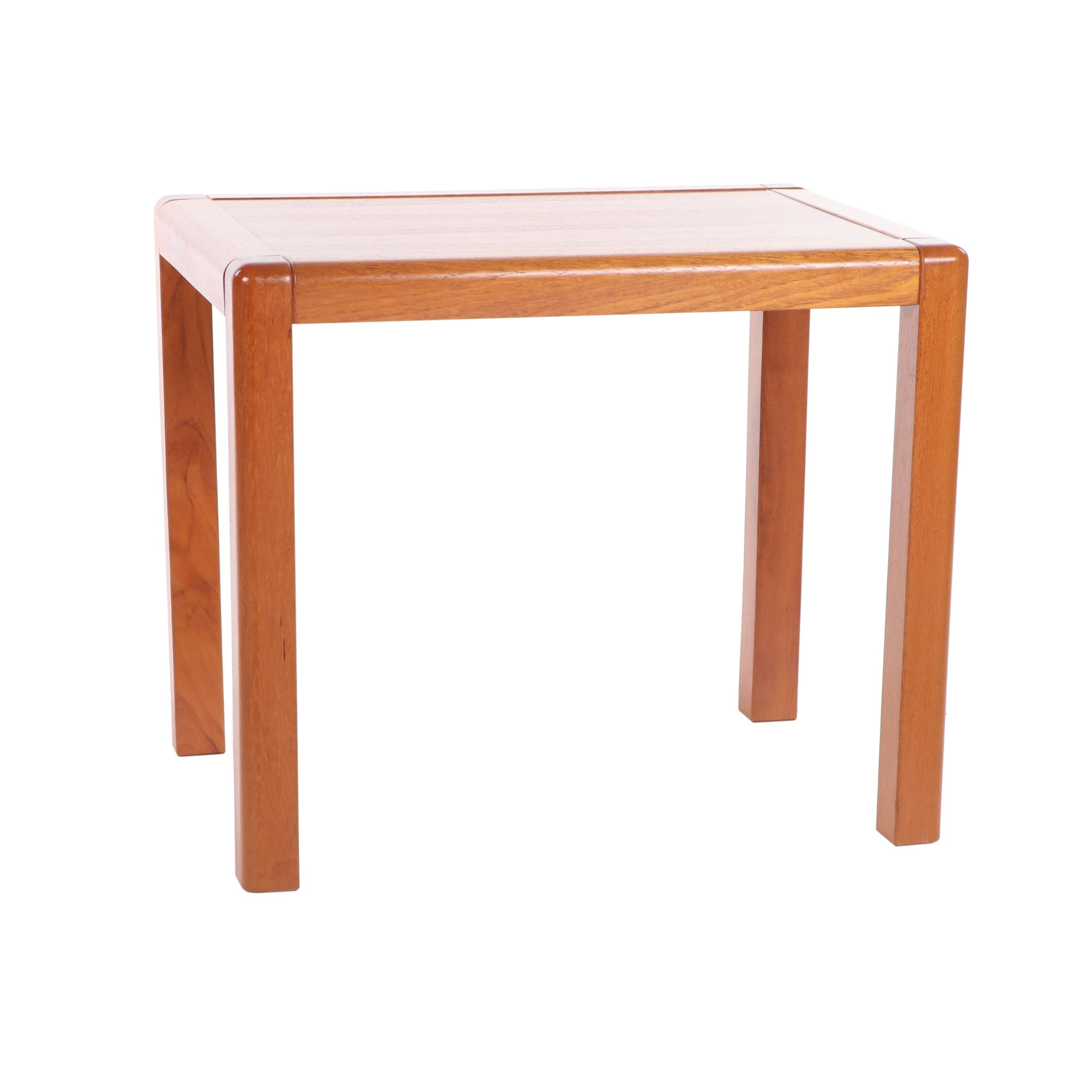 Danish Modern Teak End Table, Mid to Late 20th Century