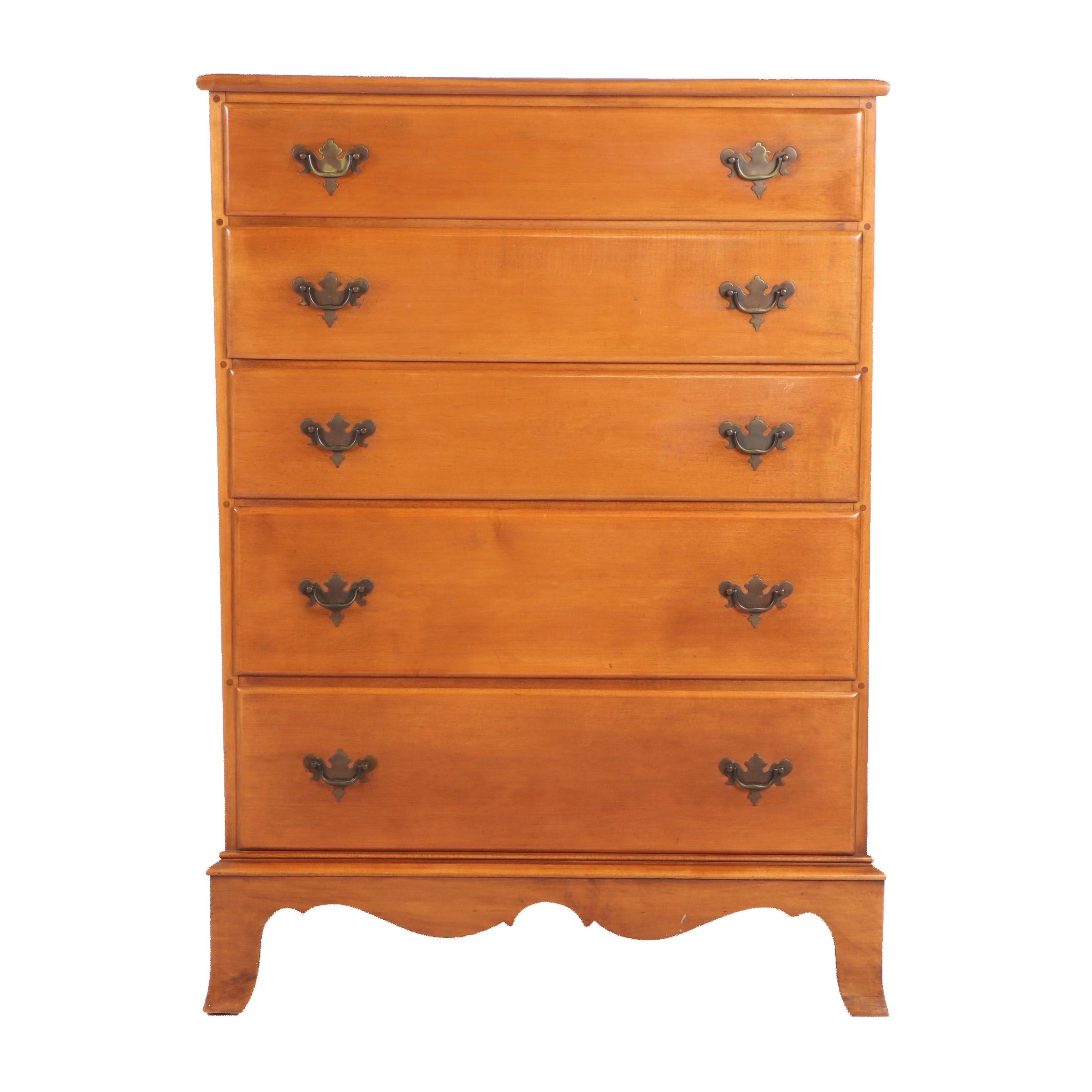 "Kincaid Furniture ""Meeting House"" Georgian Style Maple Tall Chest"