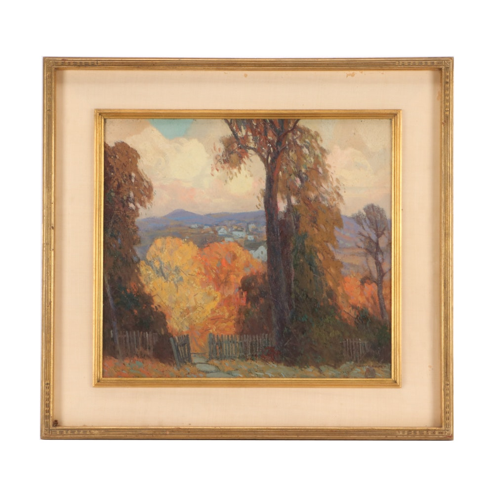 Carl Rudolph Krafft Autumn Landscape Oil Painting