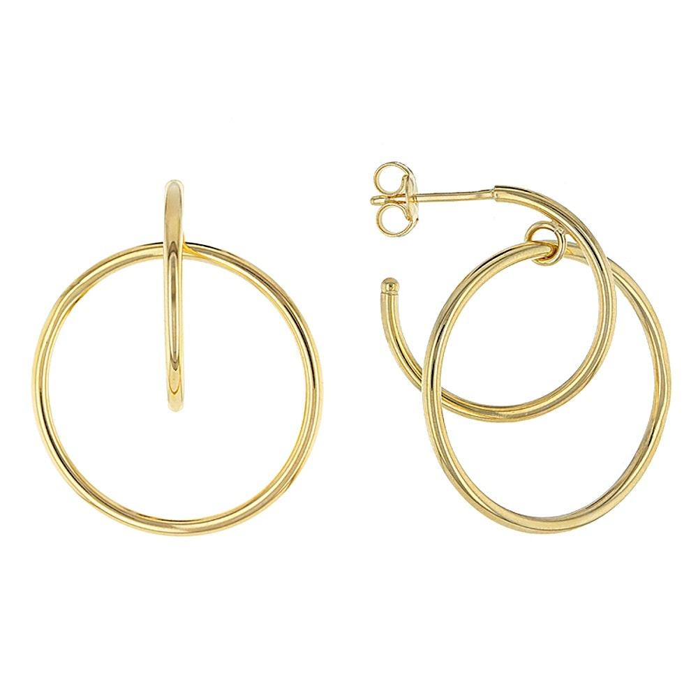 14K Yellow Gold Circular Earrings
