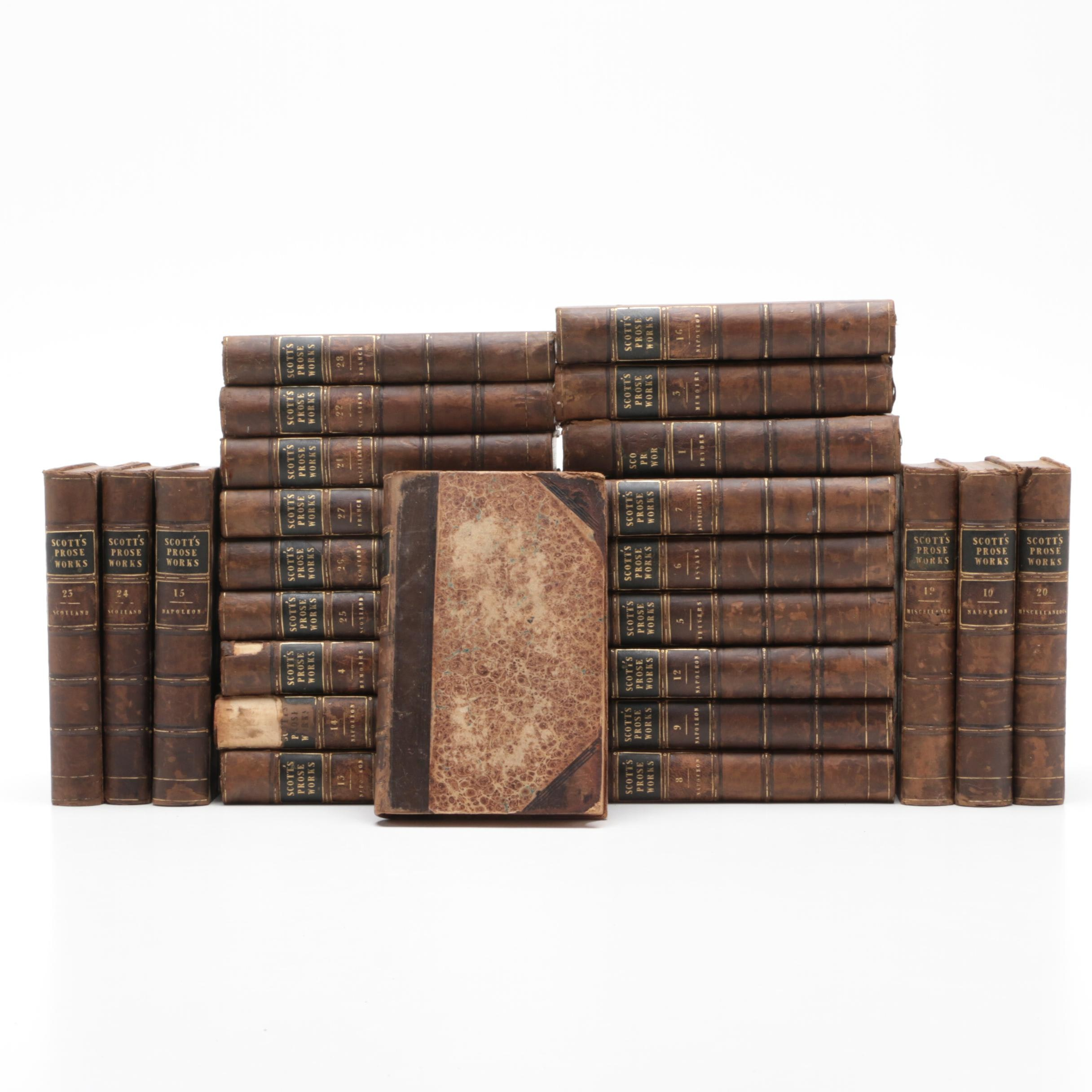 "1830s ""Works"" of Sir Walter Scott Hardcover Set"