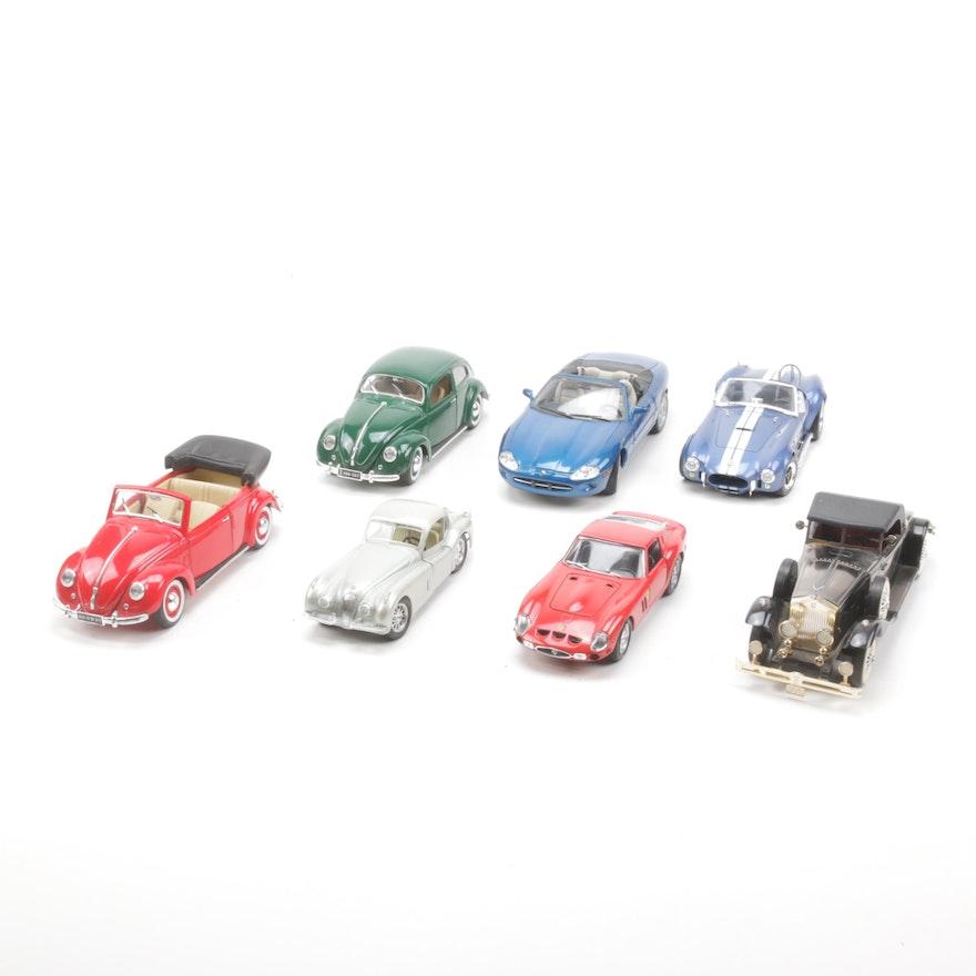 Die Cast Metal European Model Cars Including VW Bug