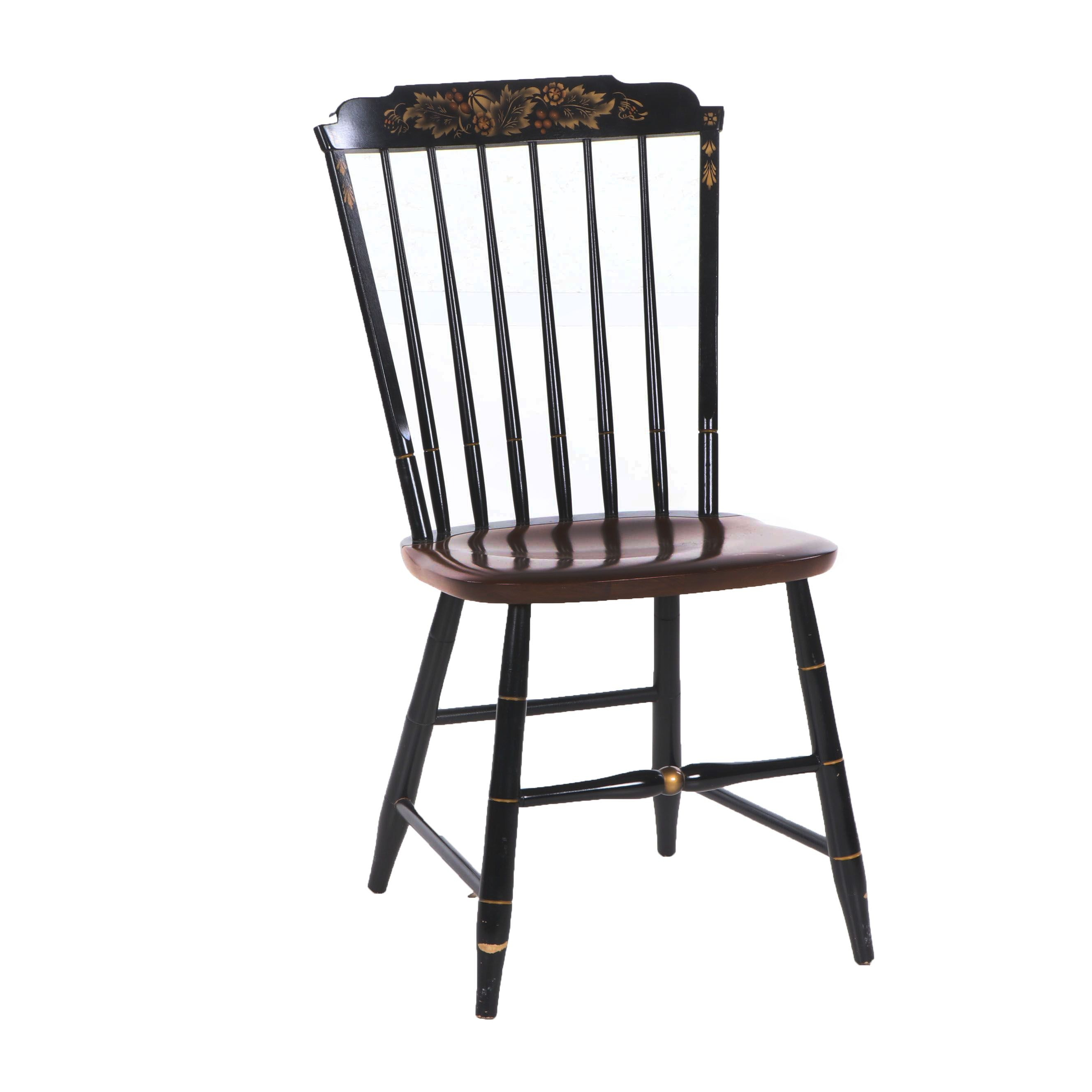 Hitchcock Stenciled Dining Chair, Mid to Late 20th Century