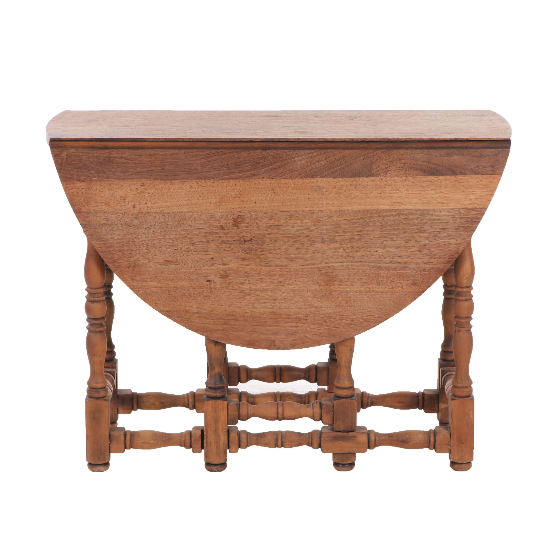 Oak Gate Leg Tea Table, Late 19th/Early 20th Century