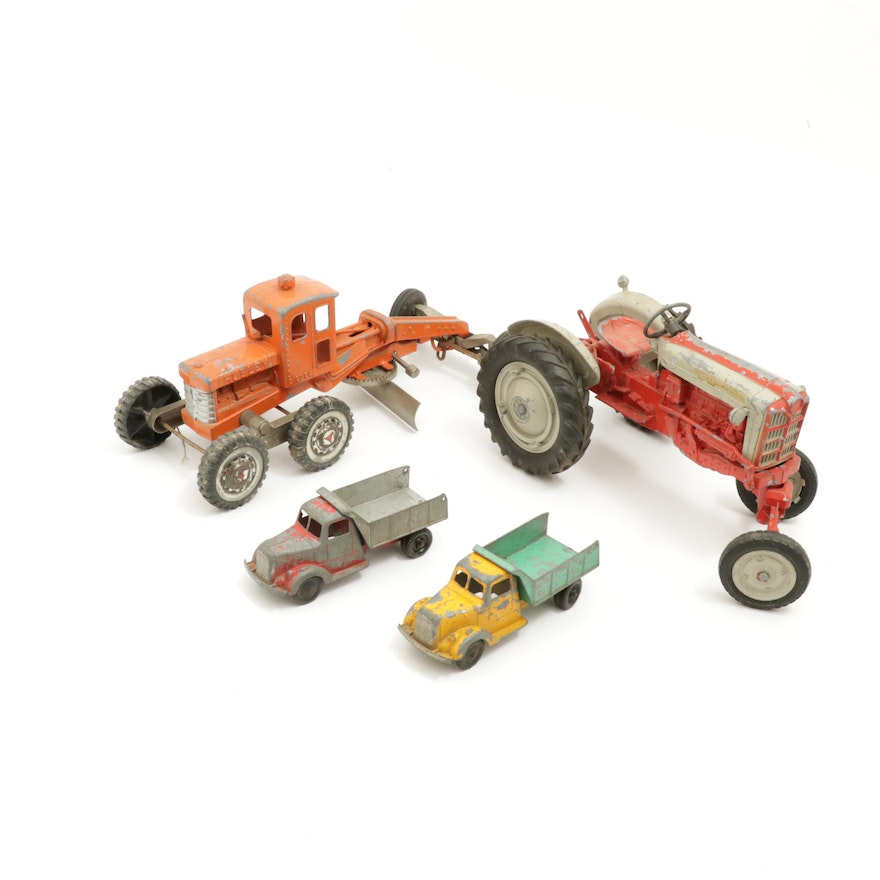 Hubley and TootsieToy Die-Cast Trucks and Farm Vehicles