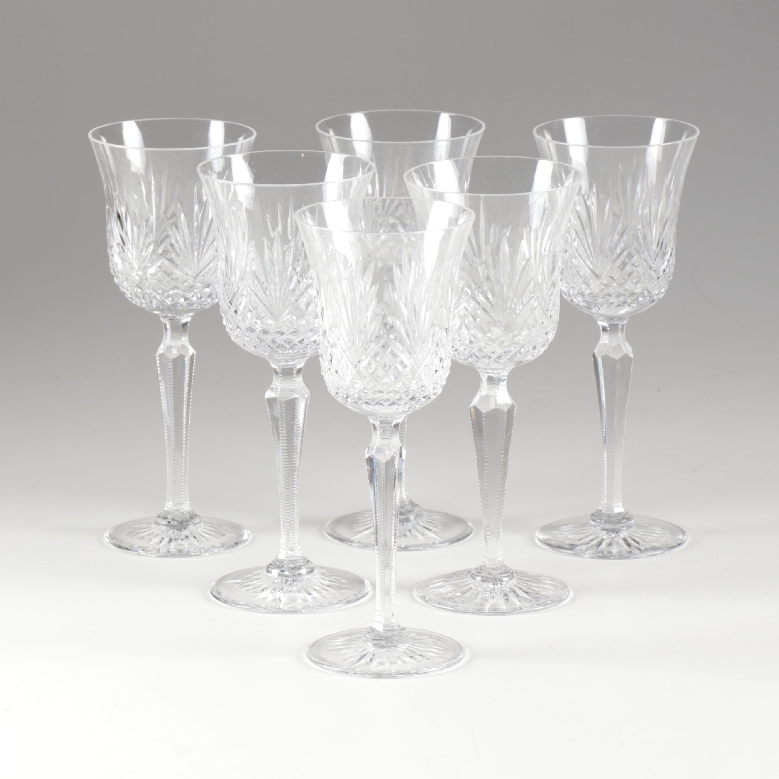 "Wedgwood ""Magesty"" Crystal Wine Glasses"