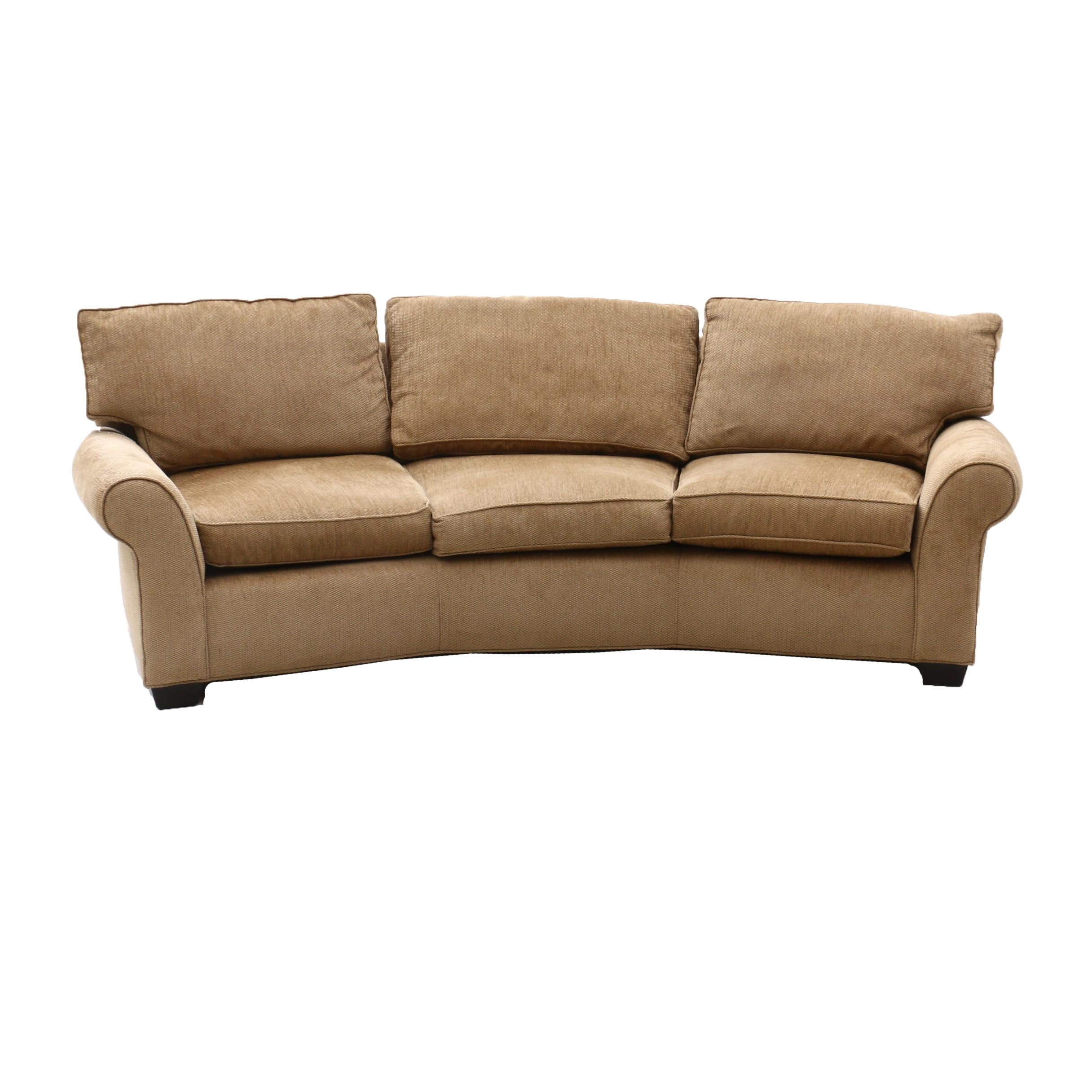 Contemporary Arhaus Arched Upholstered Sofa