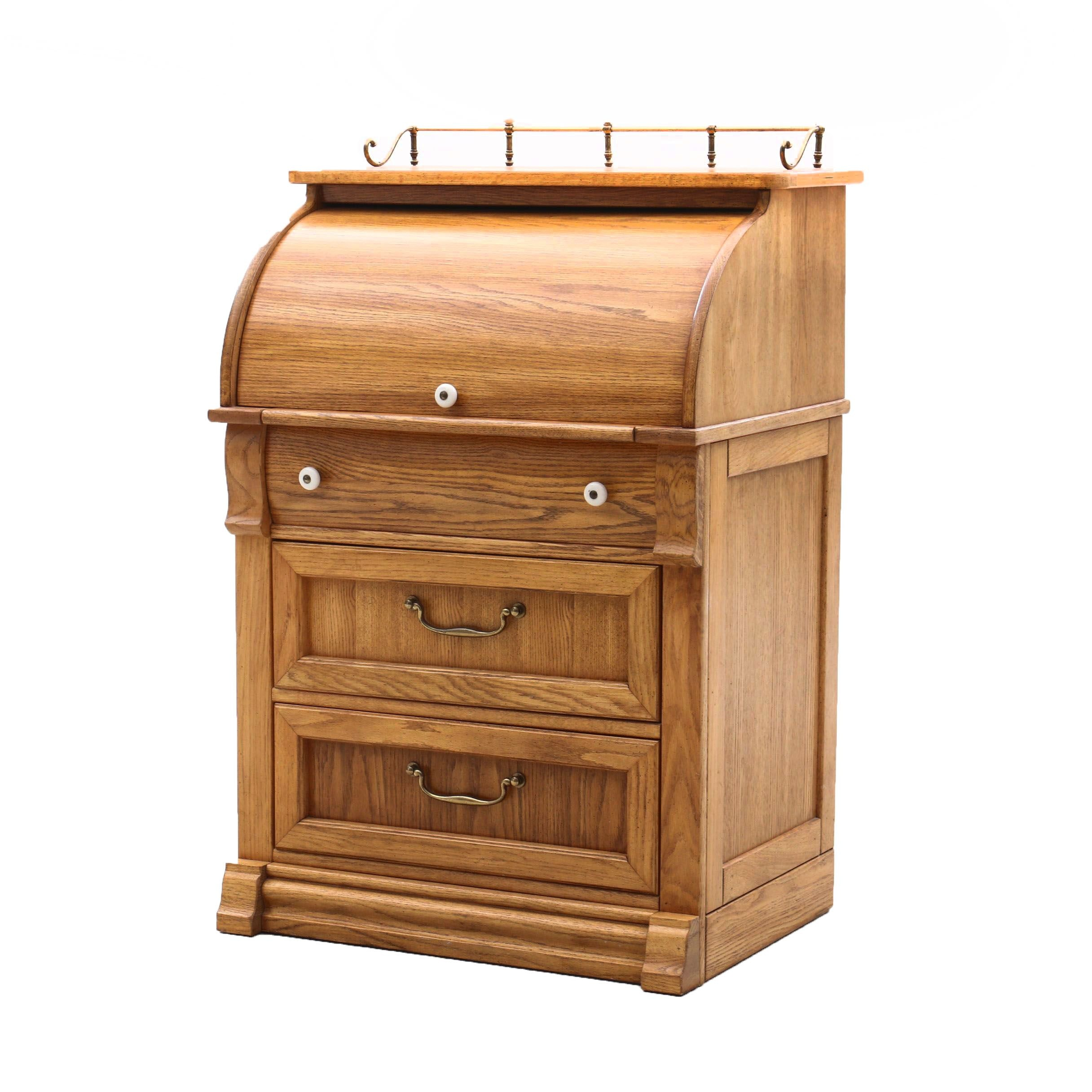 "Pulaski ""Keepsakes"" Oak Cylinder Desk"