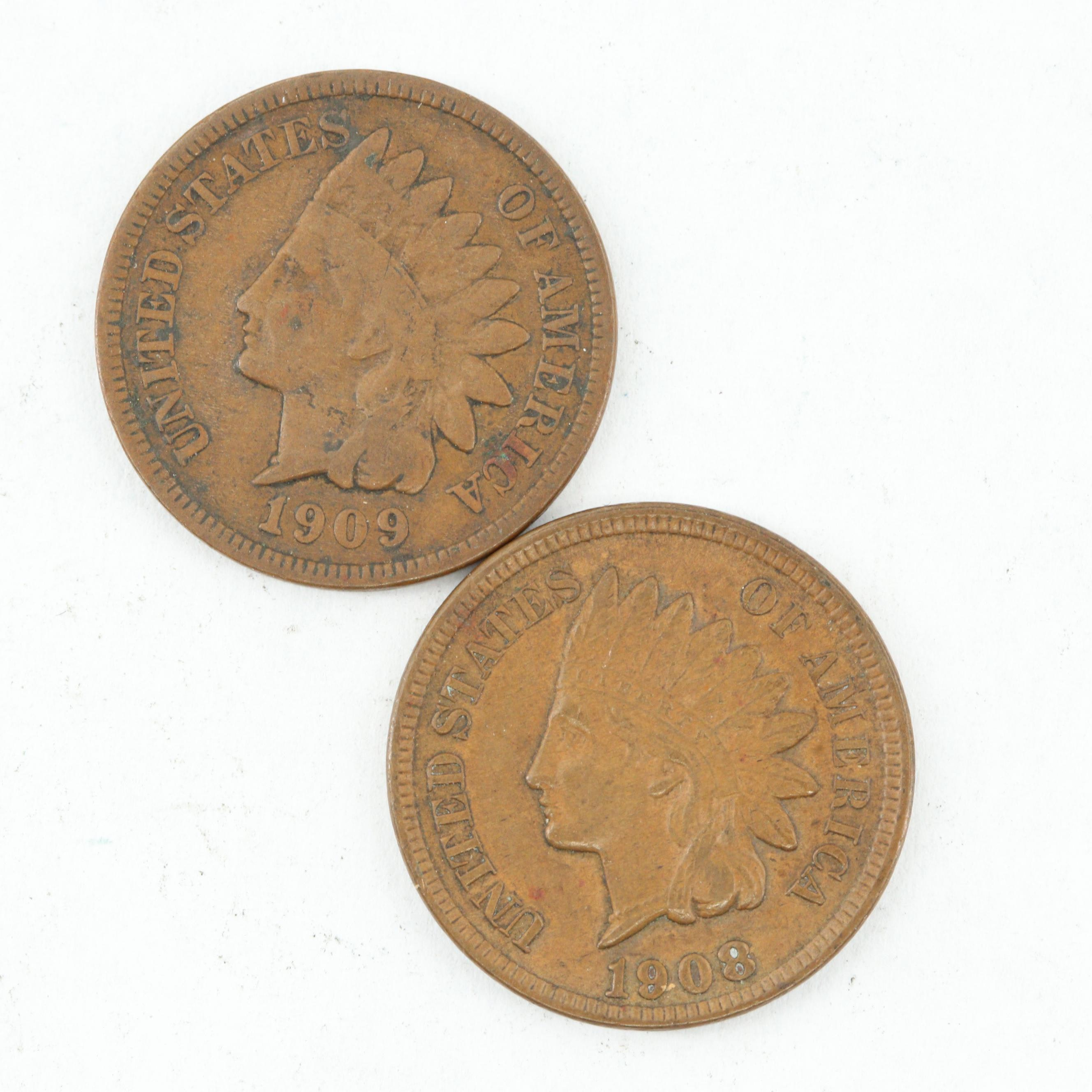 1908 and 1909 Indian Head Cents