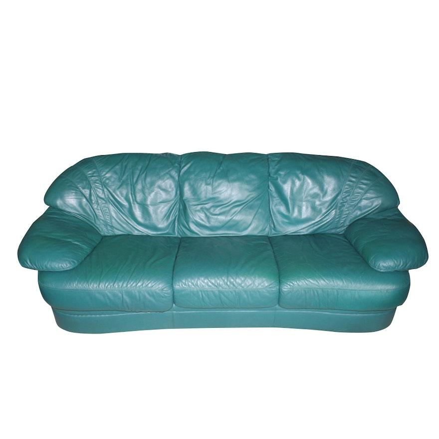 Contemporary Natuzzi Italian Leather Sofa | EBTH