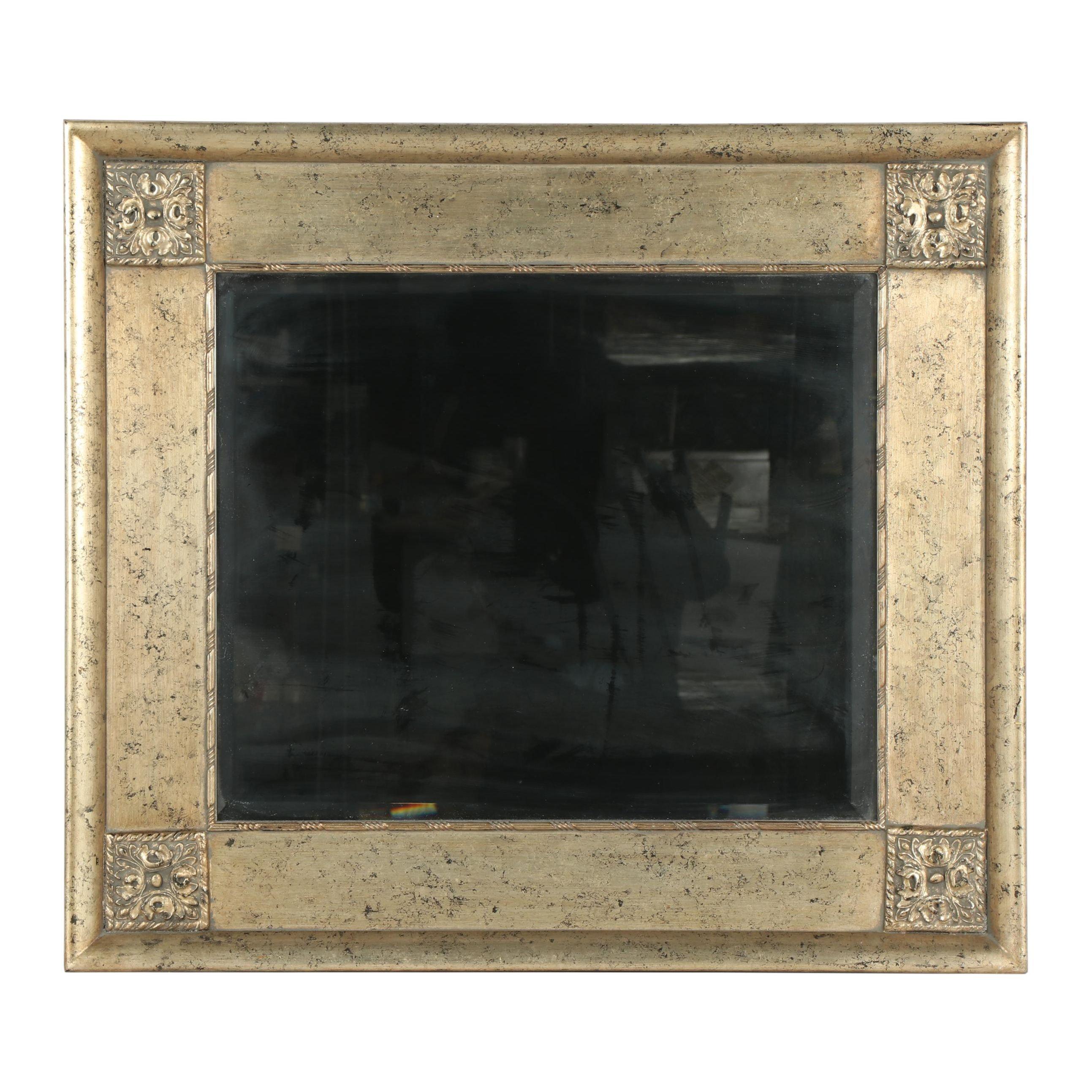 Contemporary Silver Foil Decorative Wall Mirror