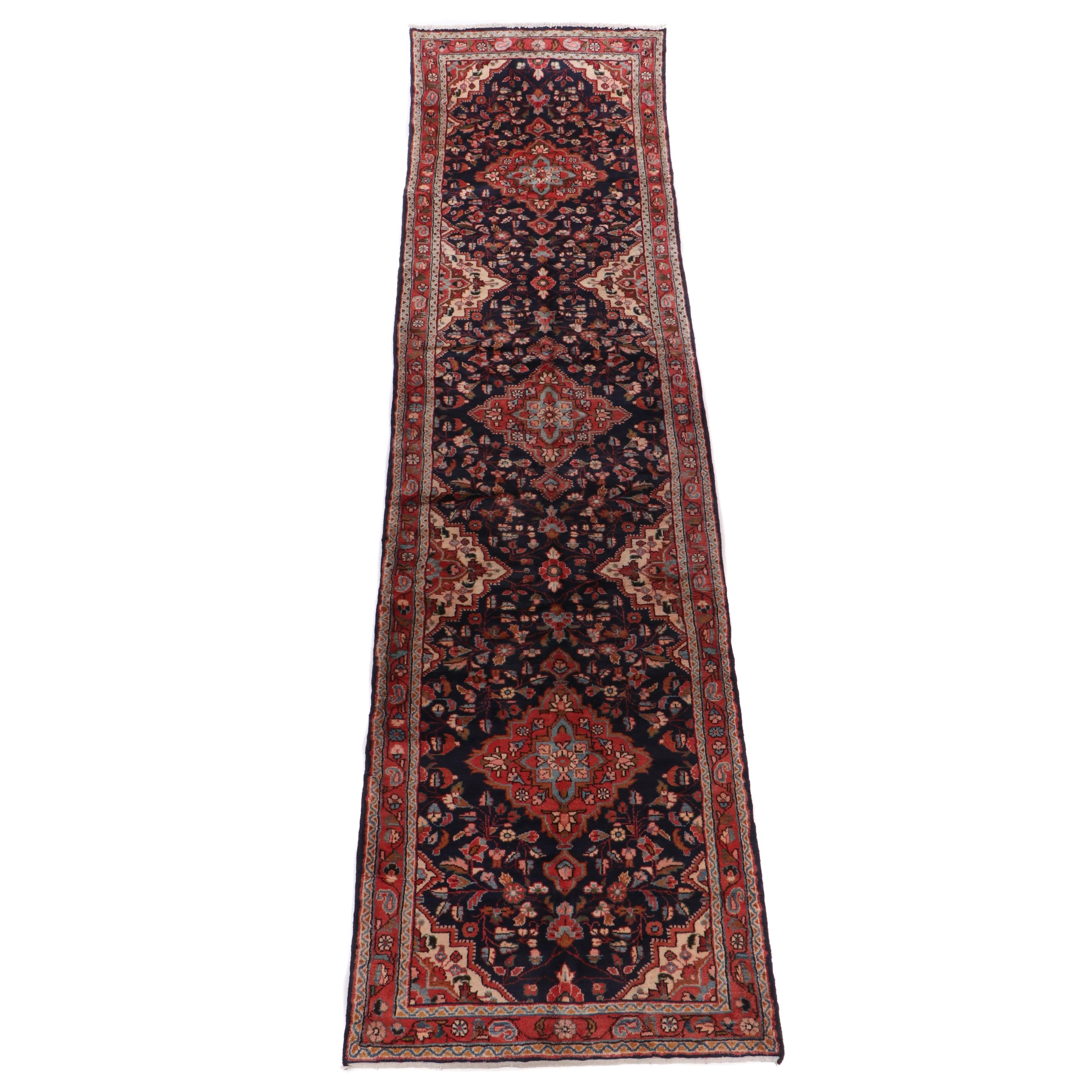Hand-Knotted Wool Northwest Persian Carpet Runner