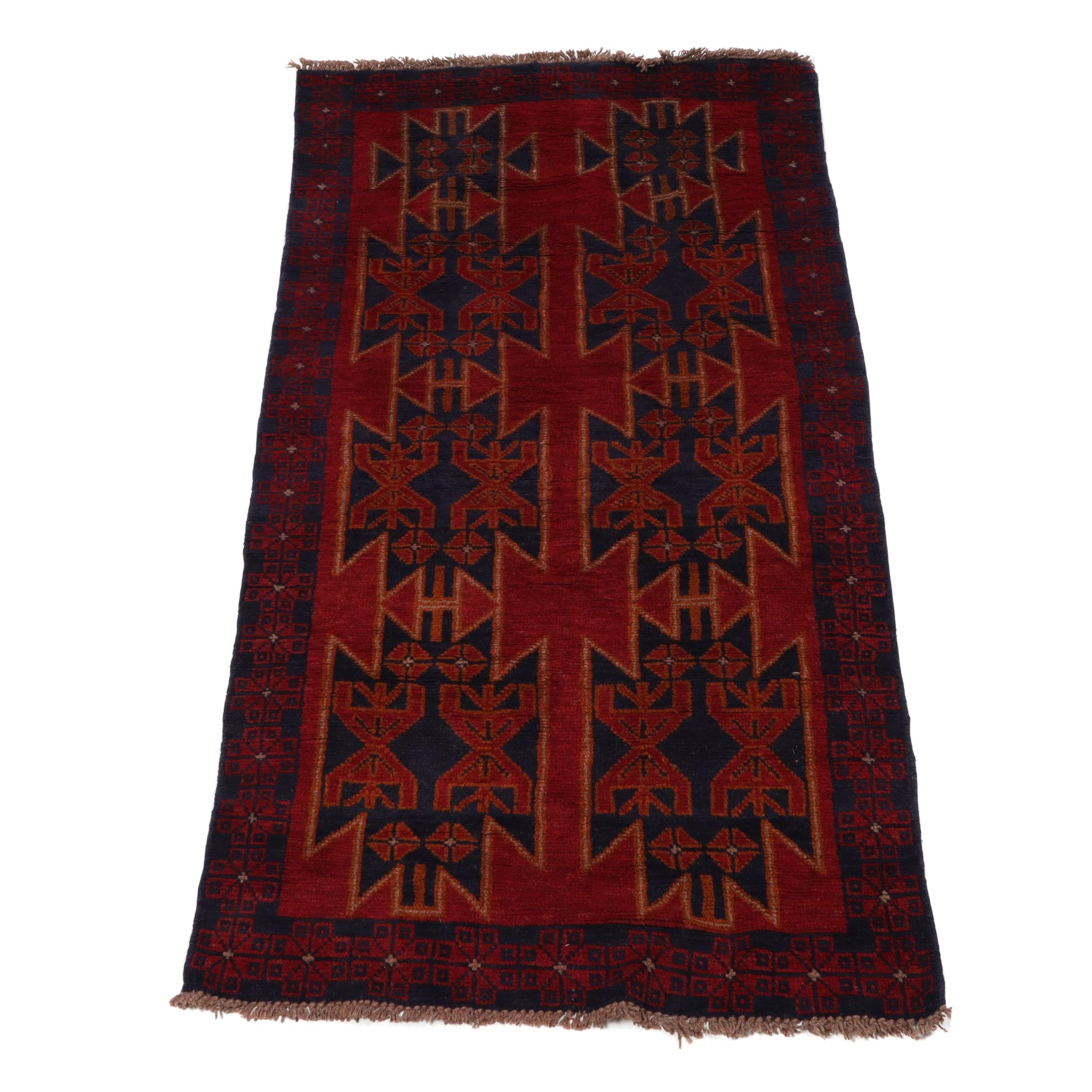 Hand-Knotted Afghani Bahor Wool Rug