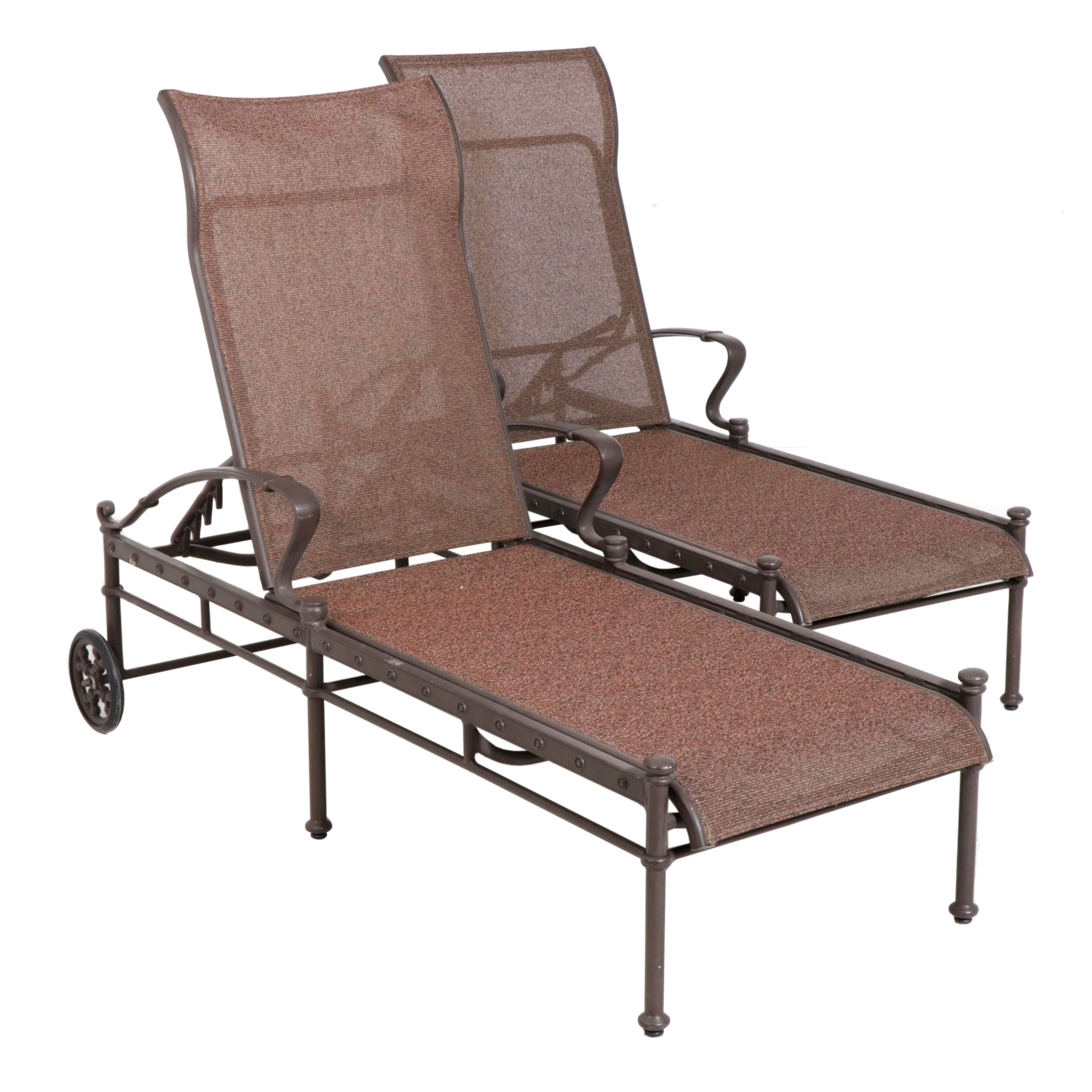 Tropitone Metal Frame Outdoor Loungers, Set of Two