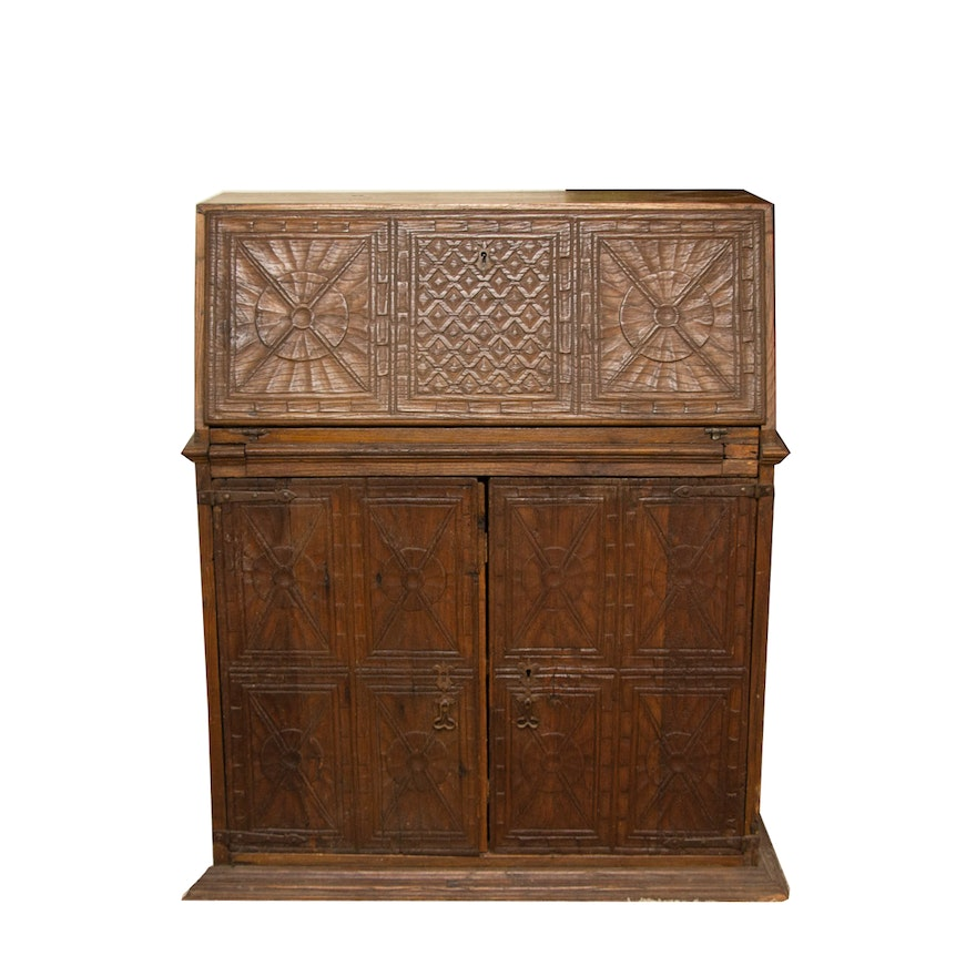 Late Victorian Secretary Desk