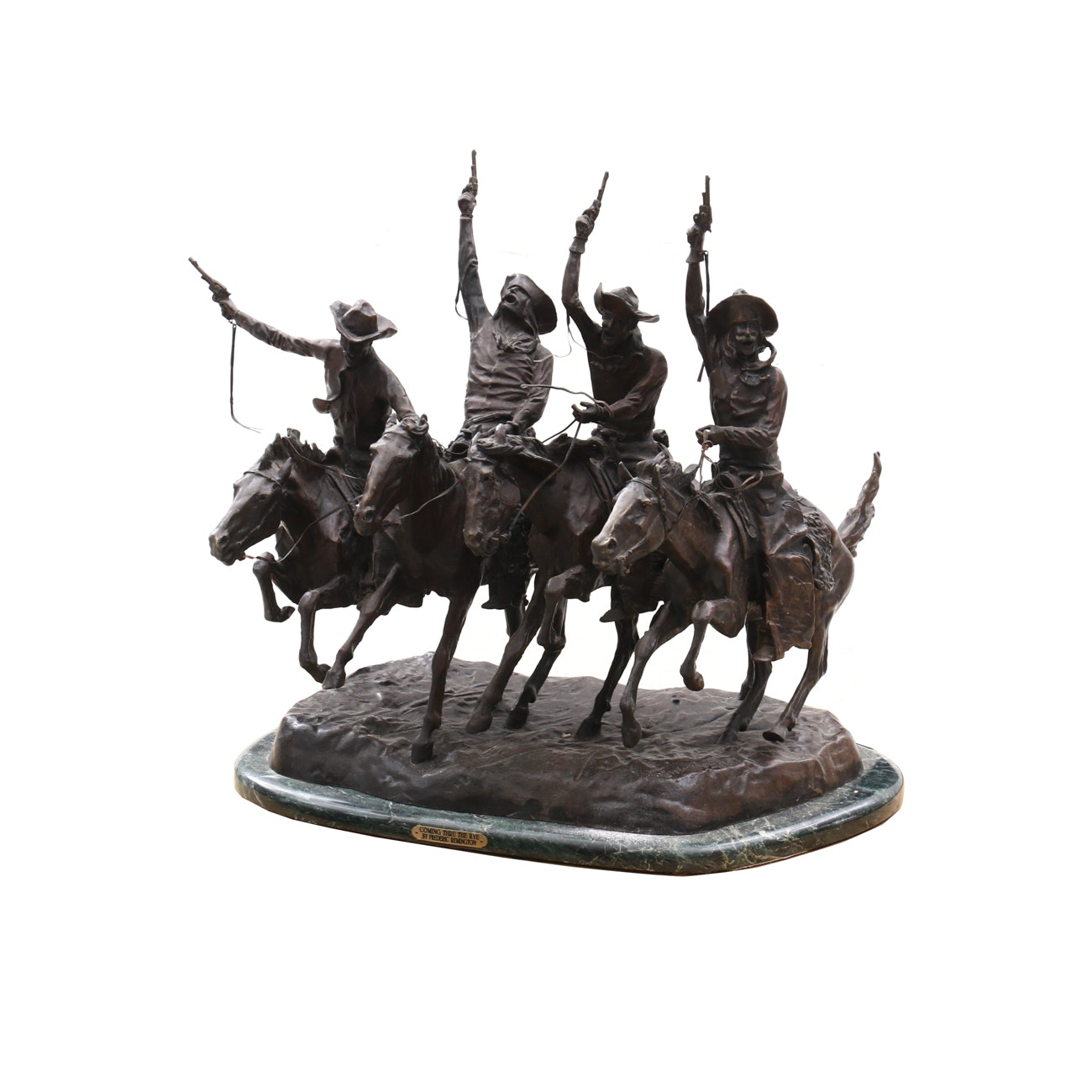 "Bronze Sculpture After Frederick Remington ""Coming Through the Rye"""