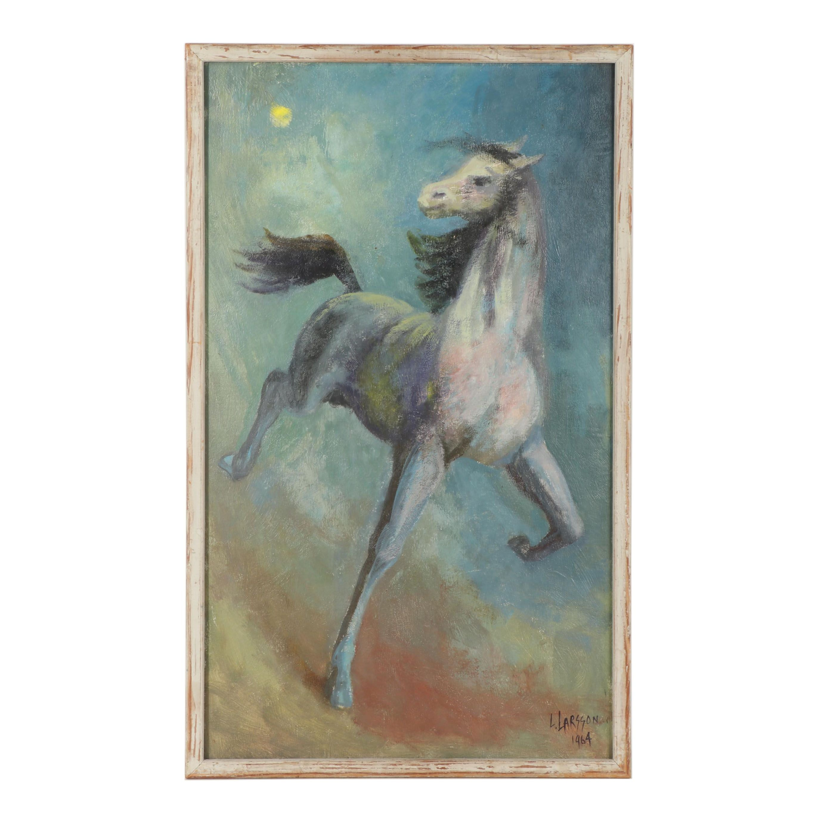 Leslie Larsson Oil Painting of Horse