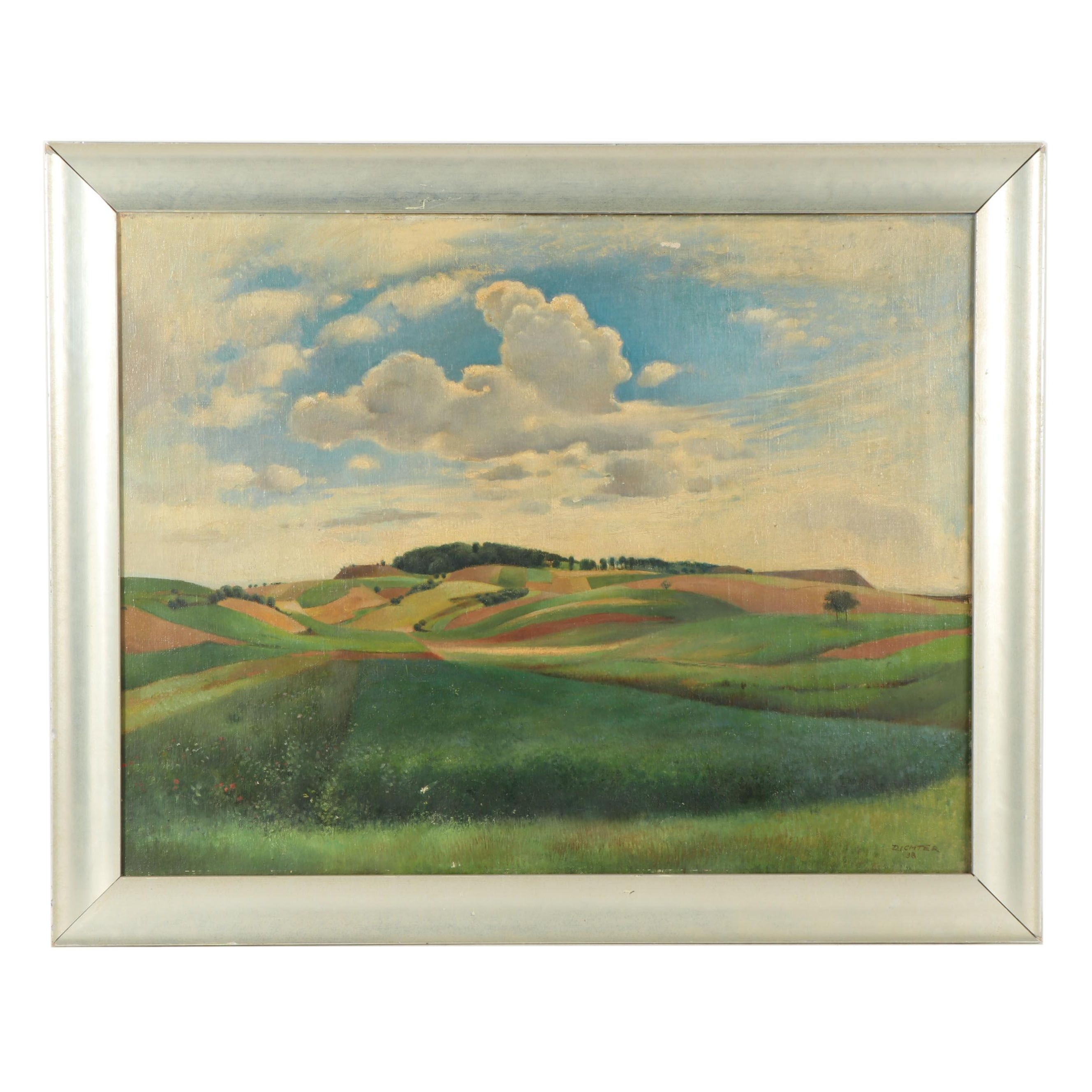 Richter Landscape Oil Painting