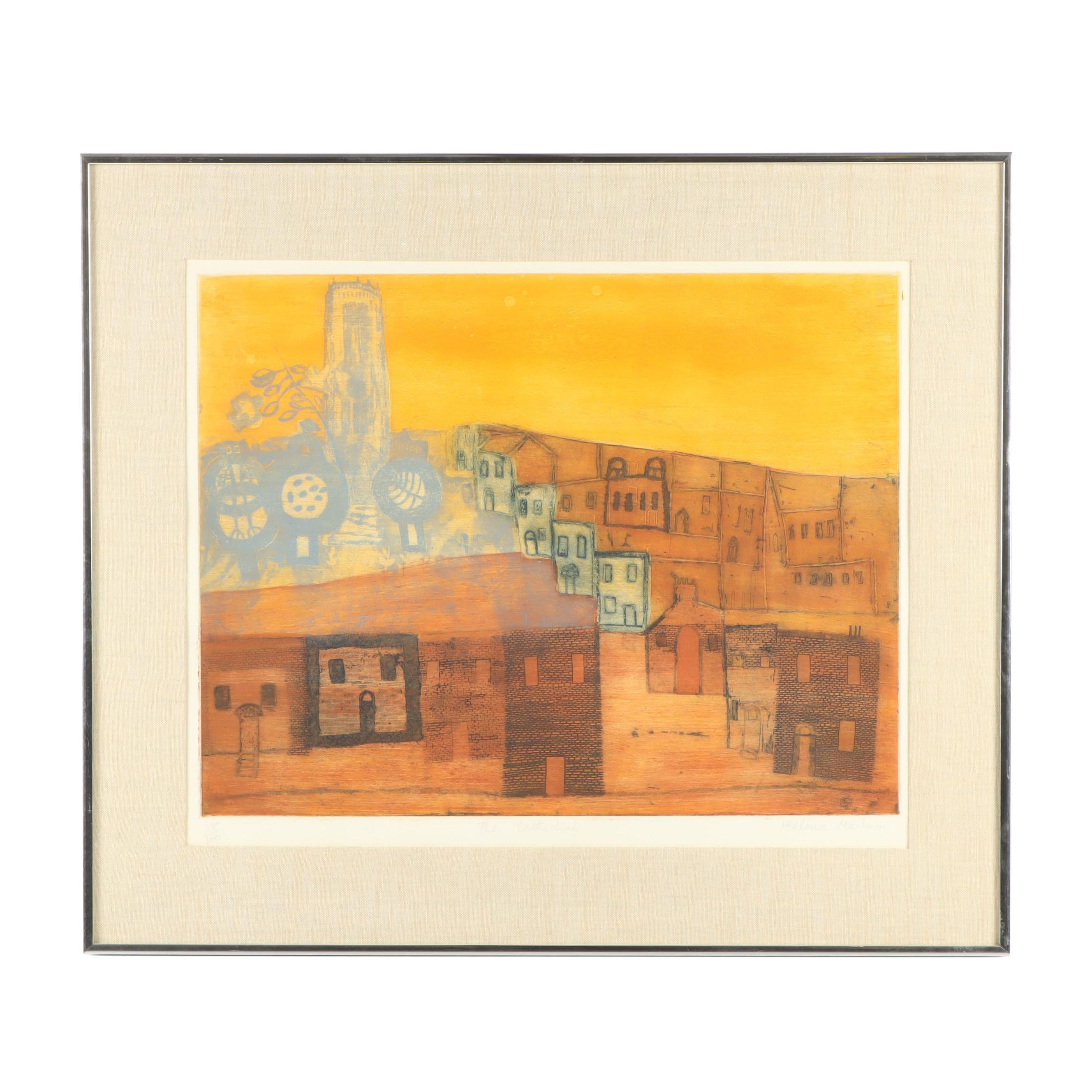 """Helena Markson Etching with Aquatint """"The Cathedral"""""""
