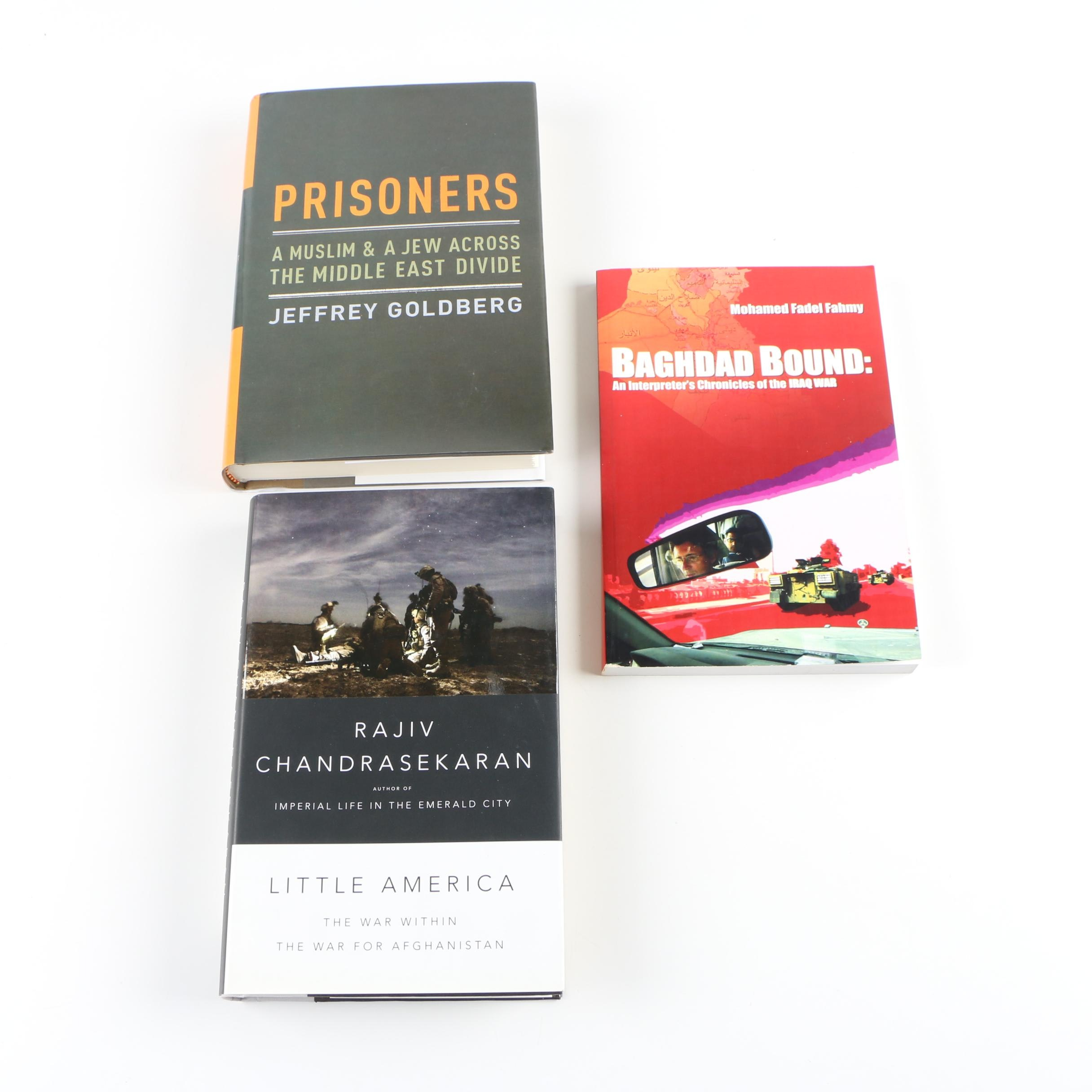 """Signed Middle East Conflict Books including """"Prisoners"""" by Jeffrey Goldberg"""
