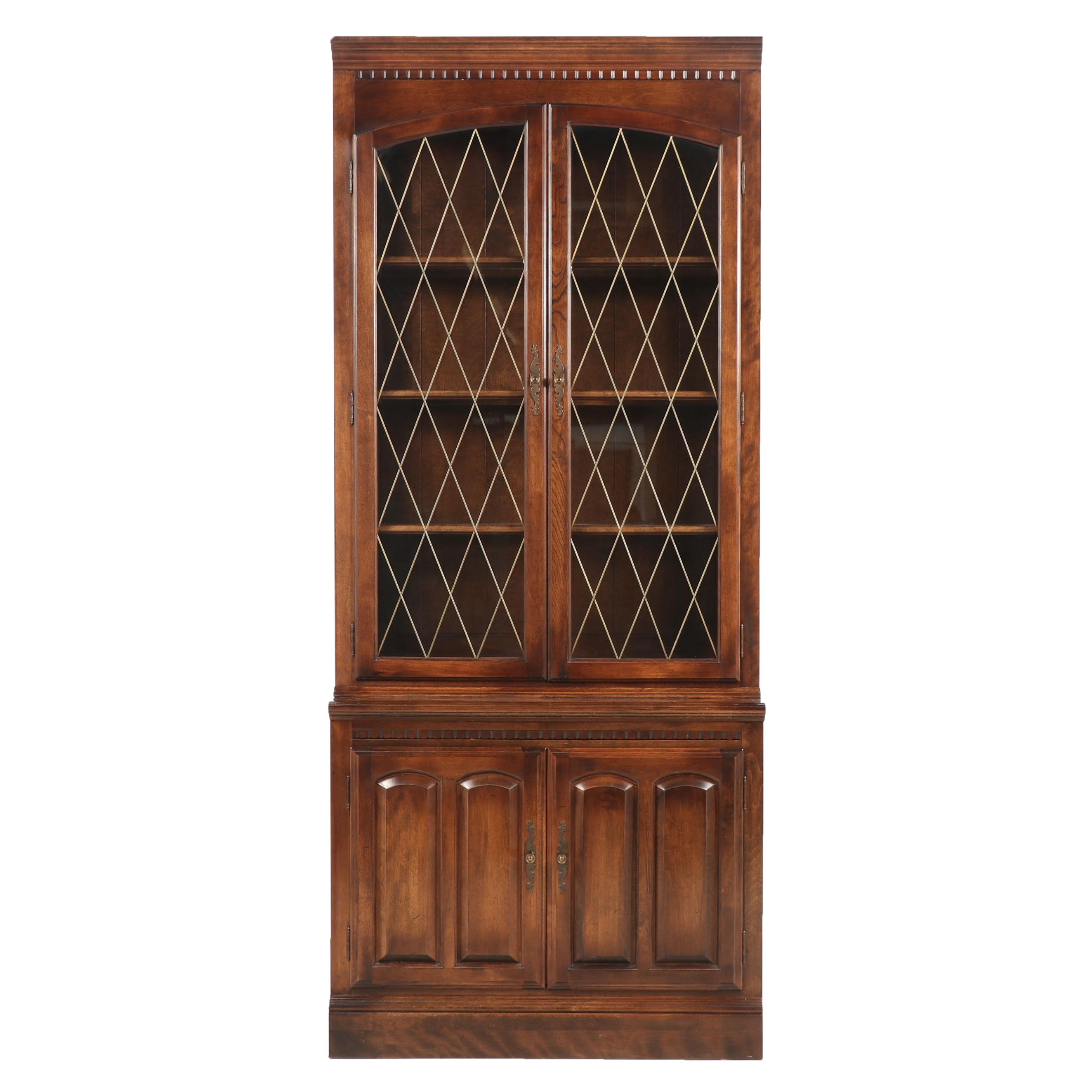 Ethan Allen Display Cabinet with Drawers, Late 20th Century
