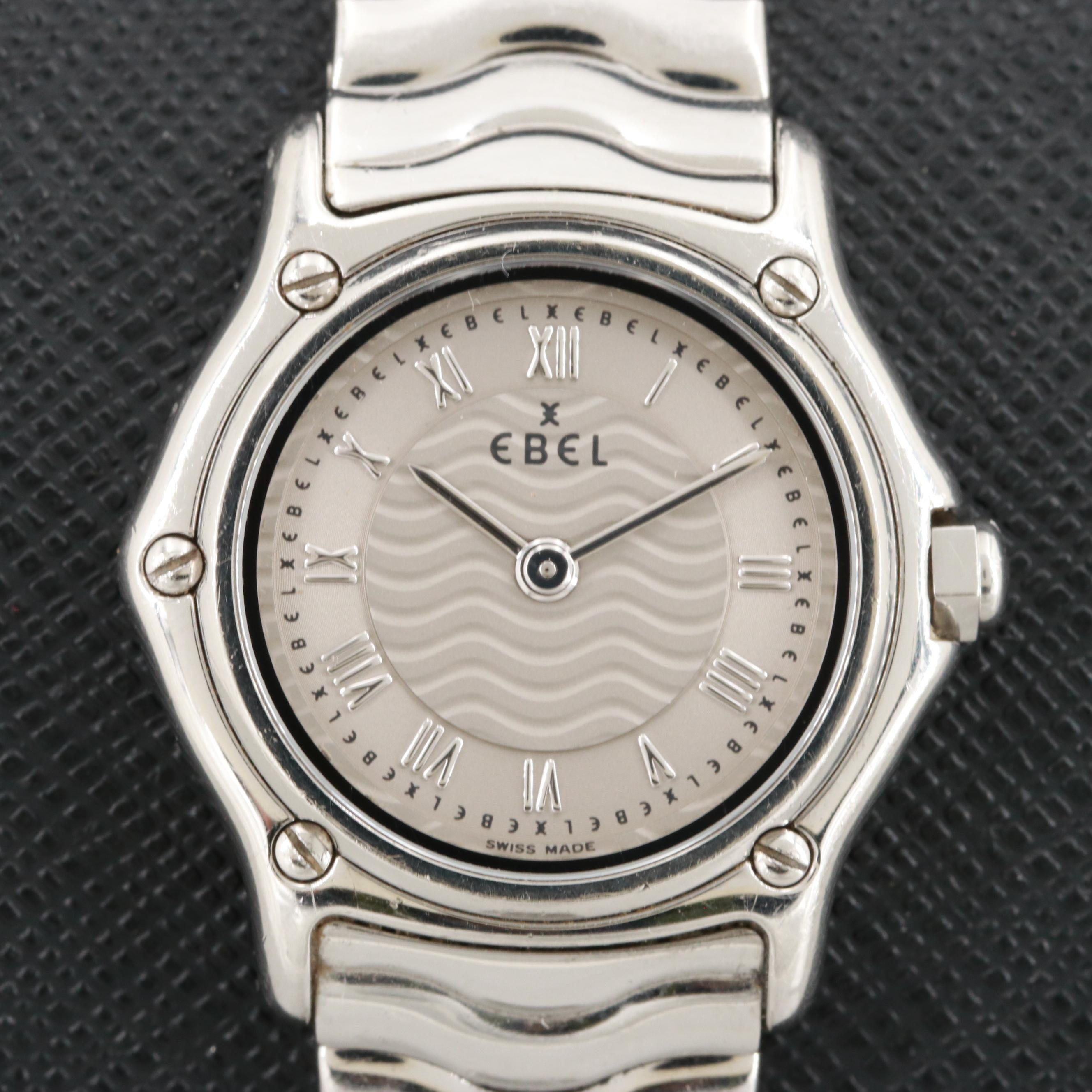 Ebel Sport Classic Mini Stainless Steel Quartz Wristwatch