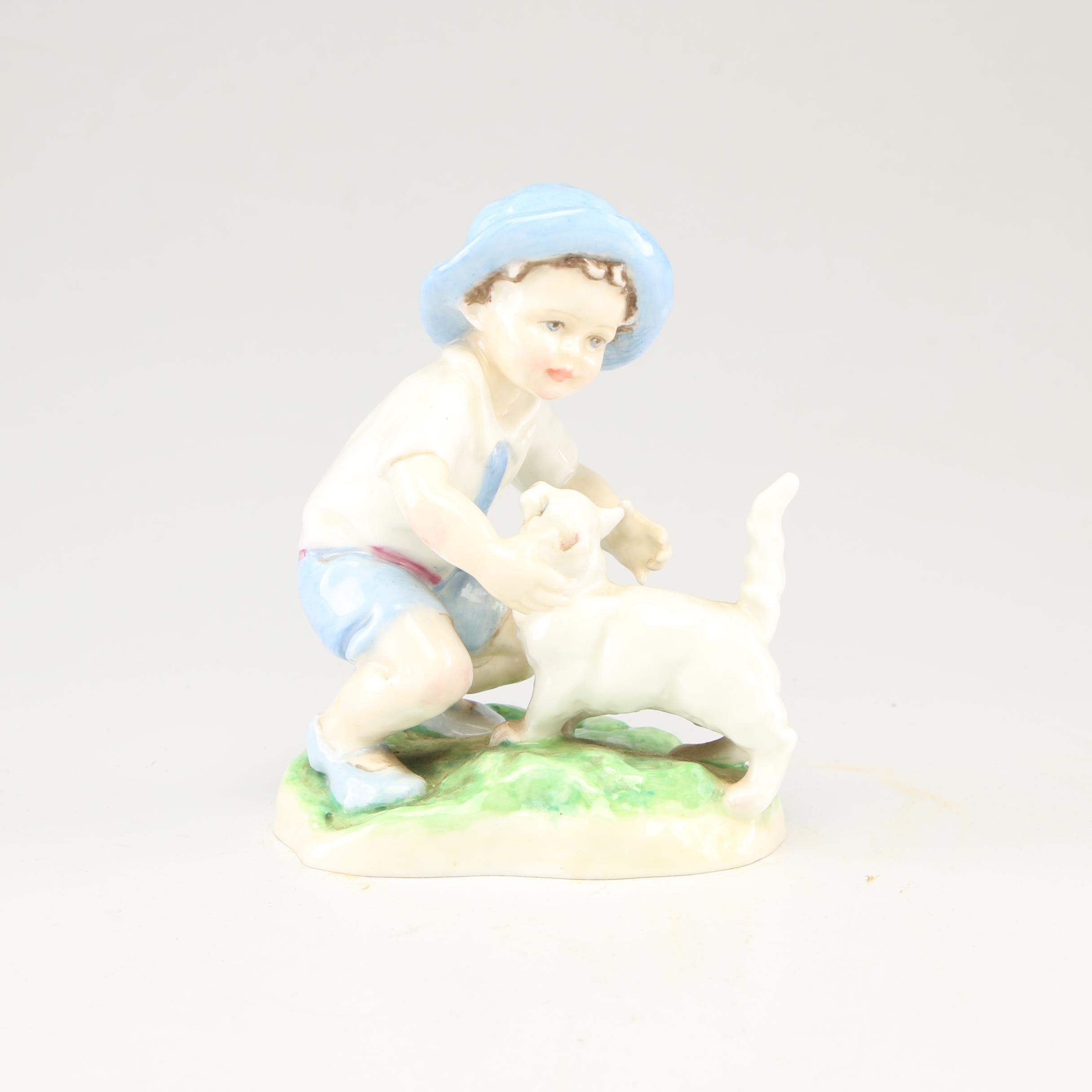 "Royal Worcester ""September"" Porcelain Figurine, Late 20th Century"