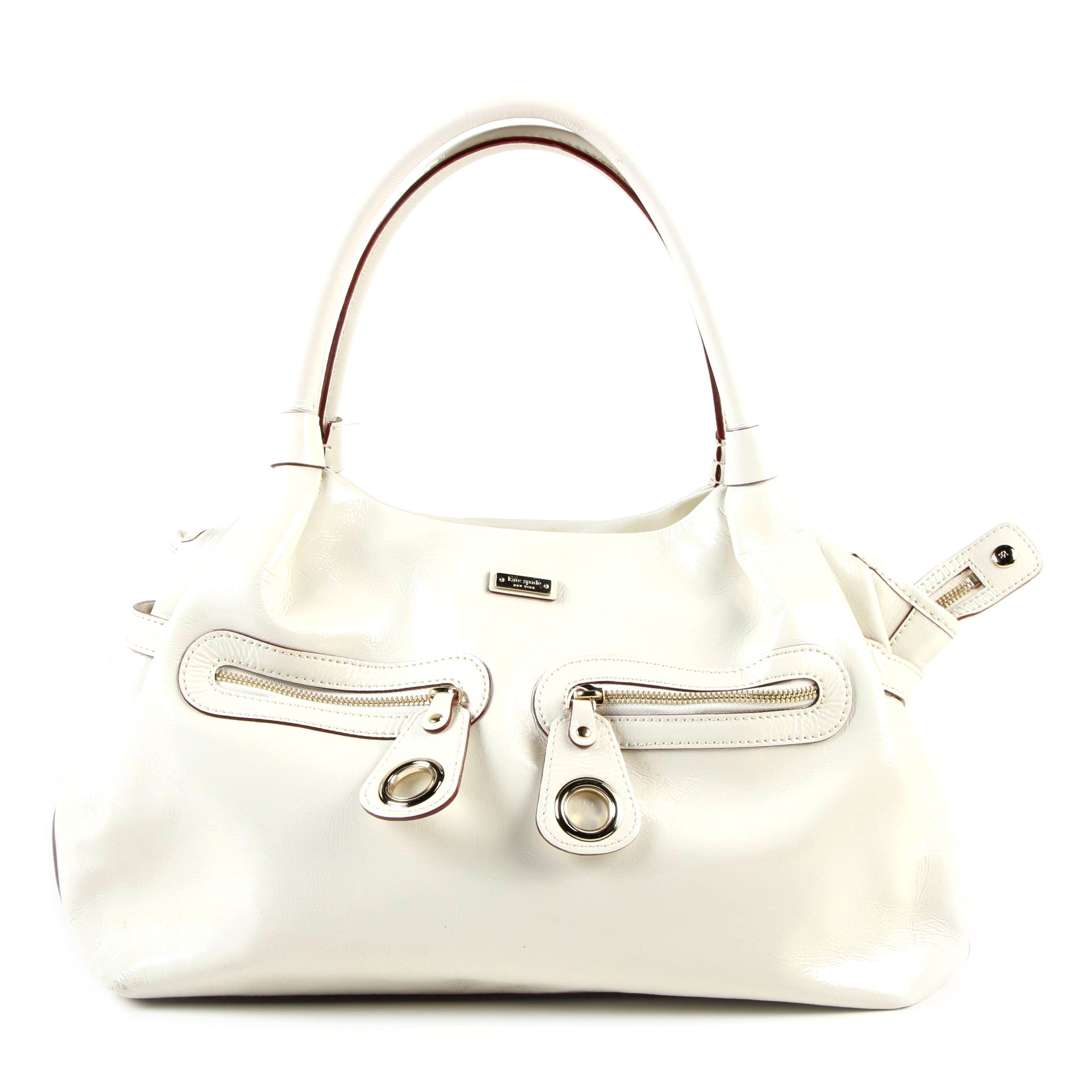 Kate Spade New York White Patent Leather Satchel