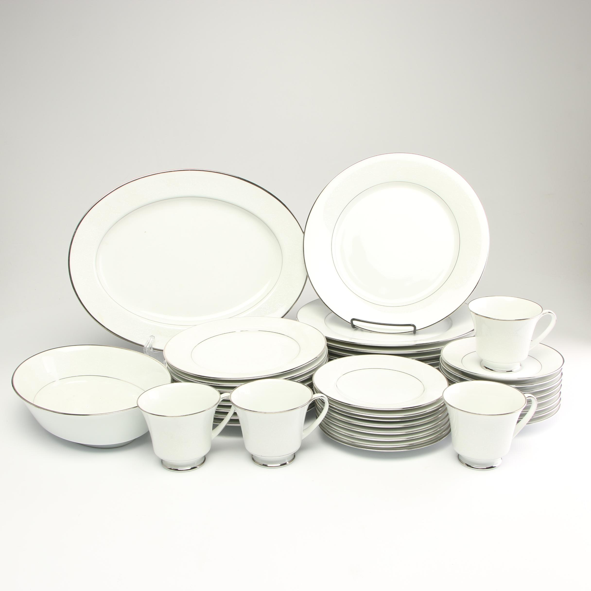 "Noritake ""Thule"" Porcelain Dinnerware Service of Four"
