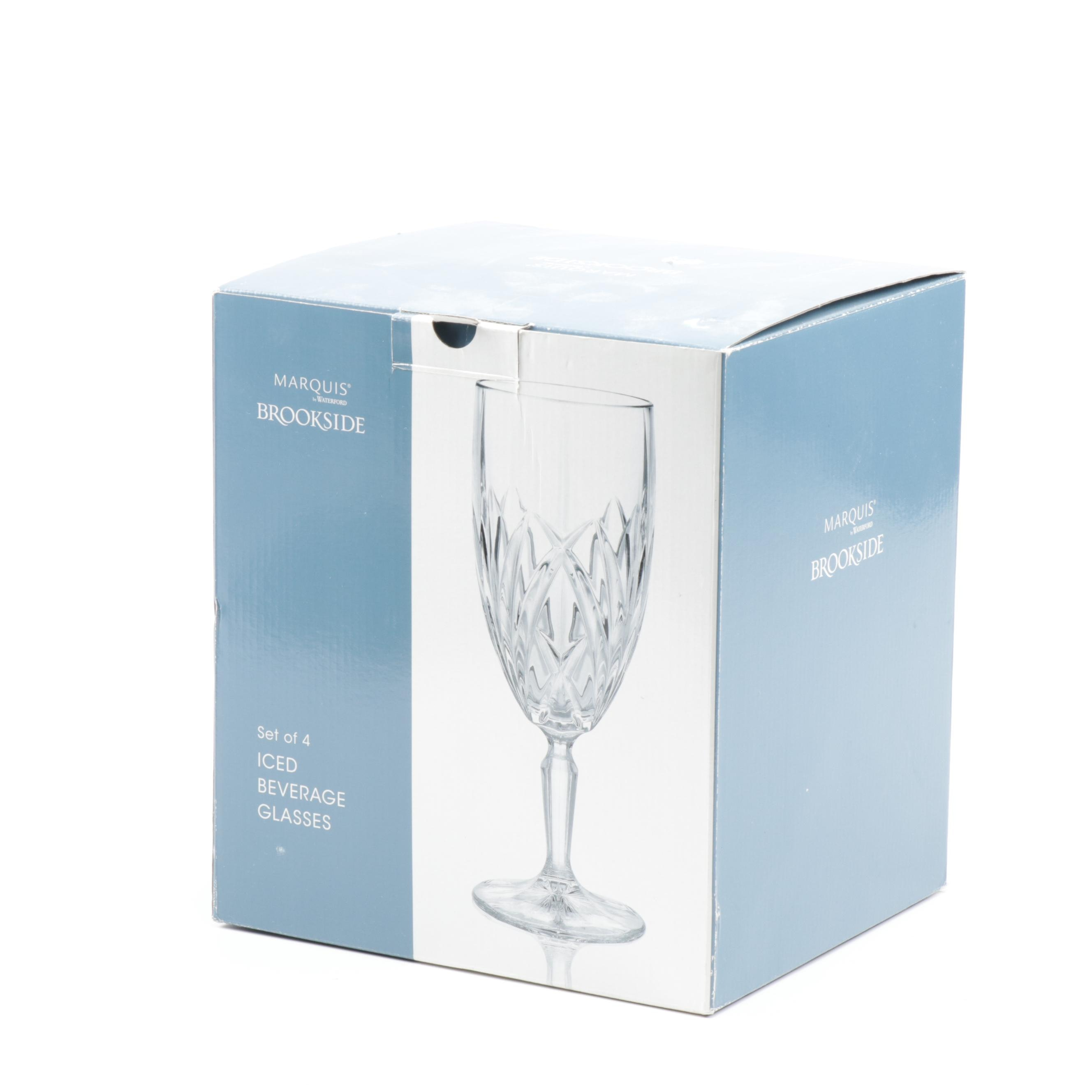 "Crystal ""Brookside"" Iced Beverage Glasses by Marquis by Waterford, Set of Four"