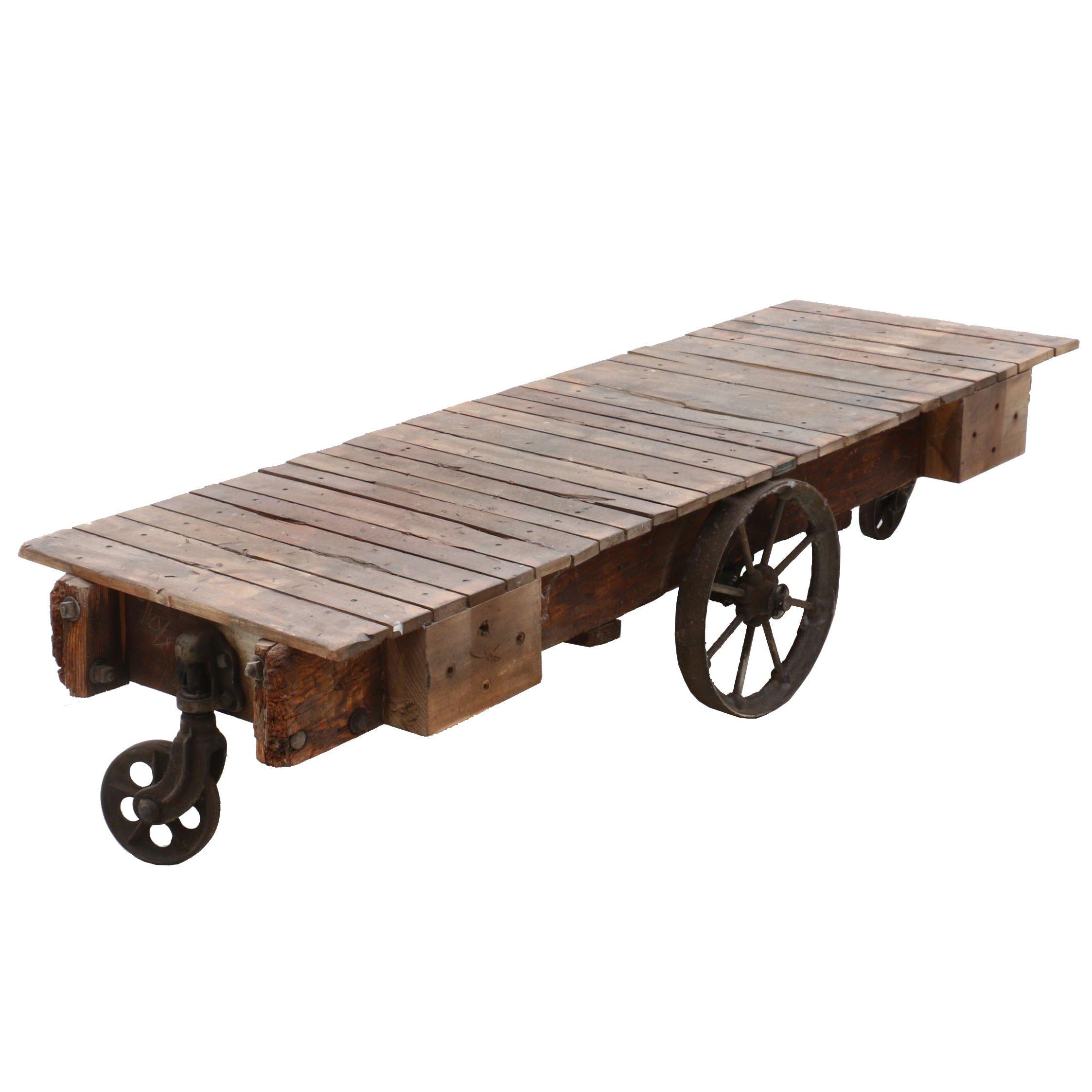 Antique Oak and Cast Iron Cart