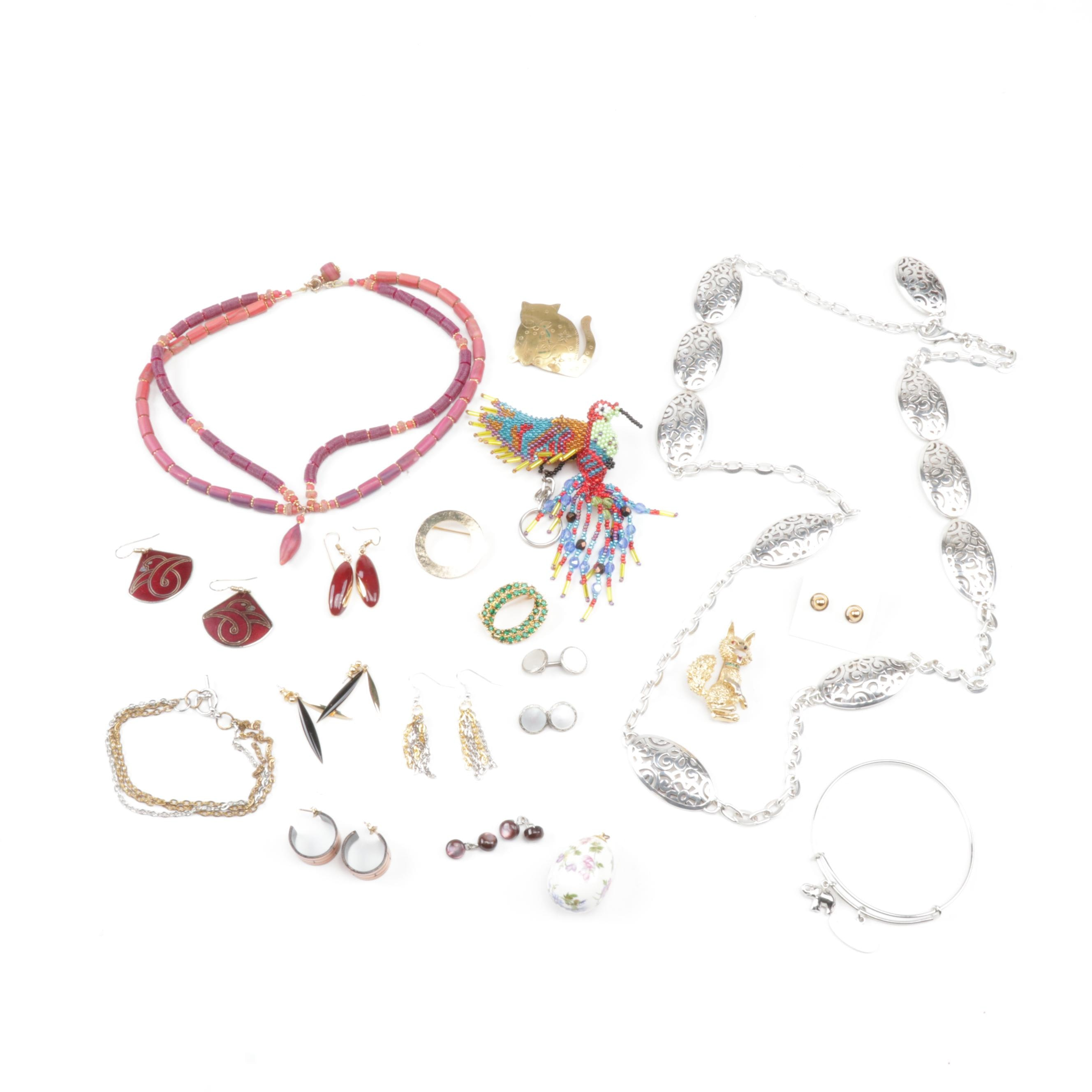 Eclectic Costume Jewelry Including Mother of Pearl