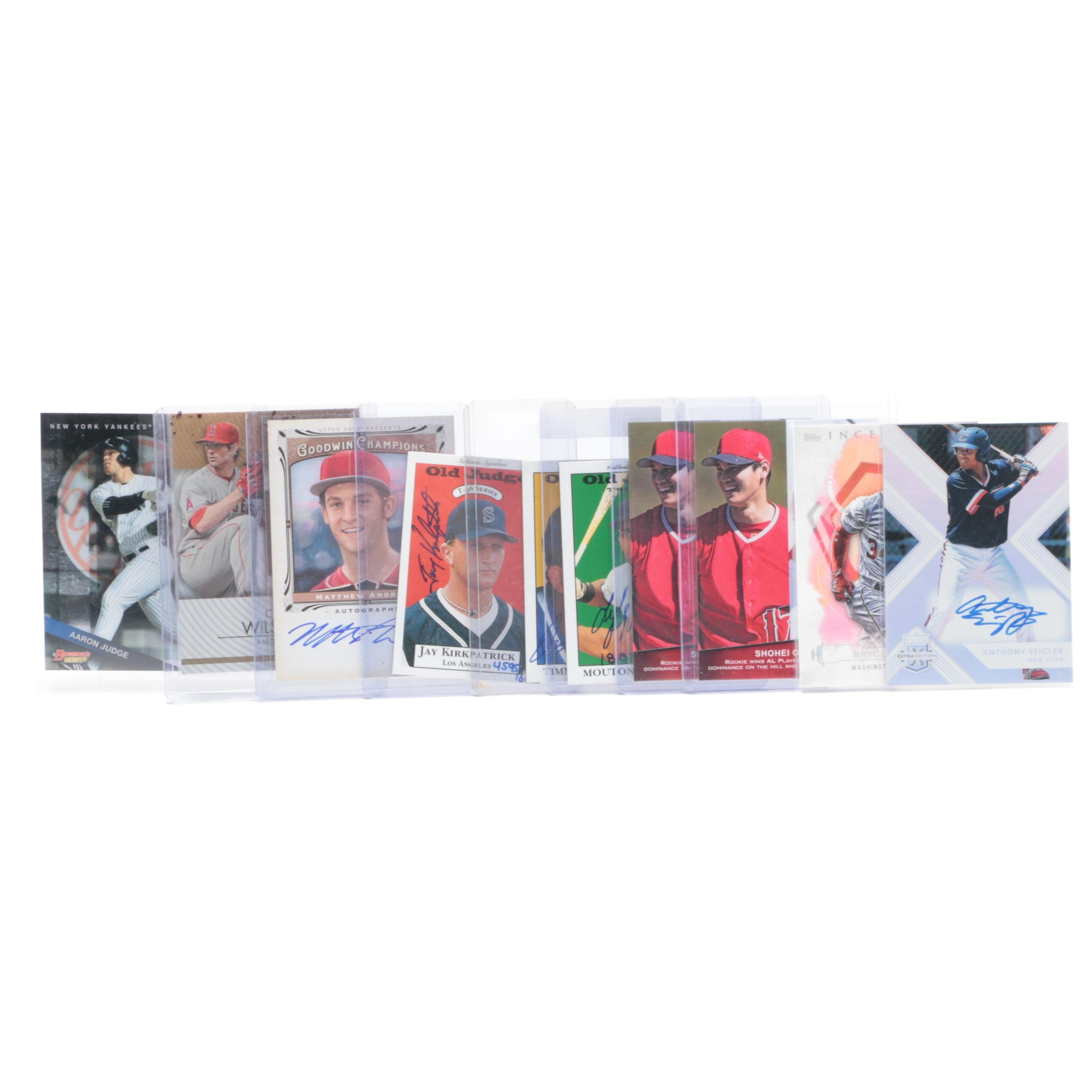 Selection of Contemporary Baseball Cards, Includes Aaron Judge and Bryce Harper