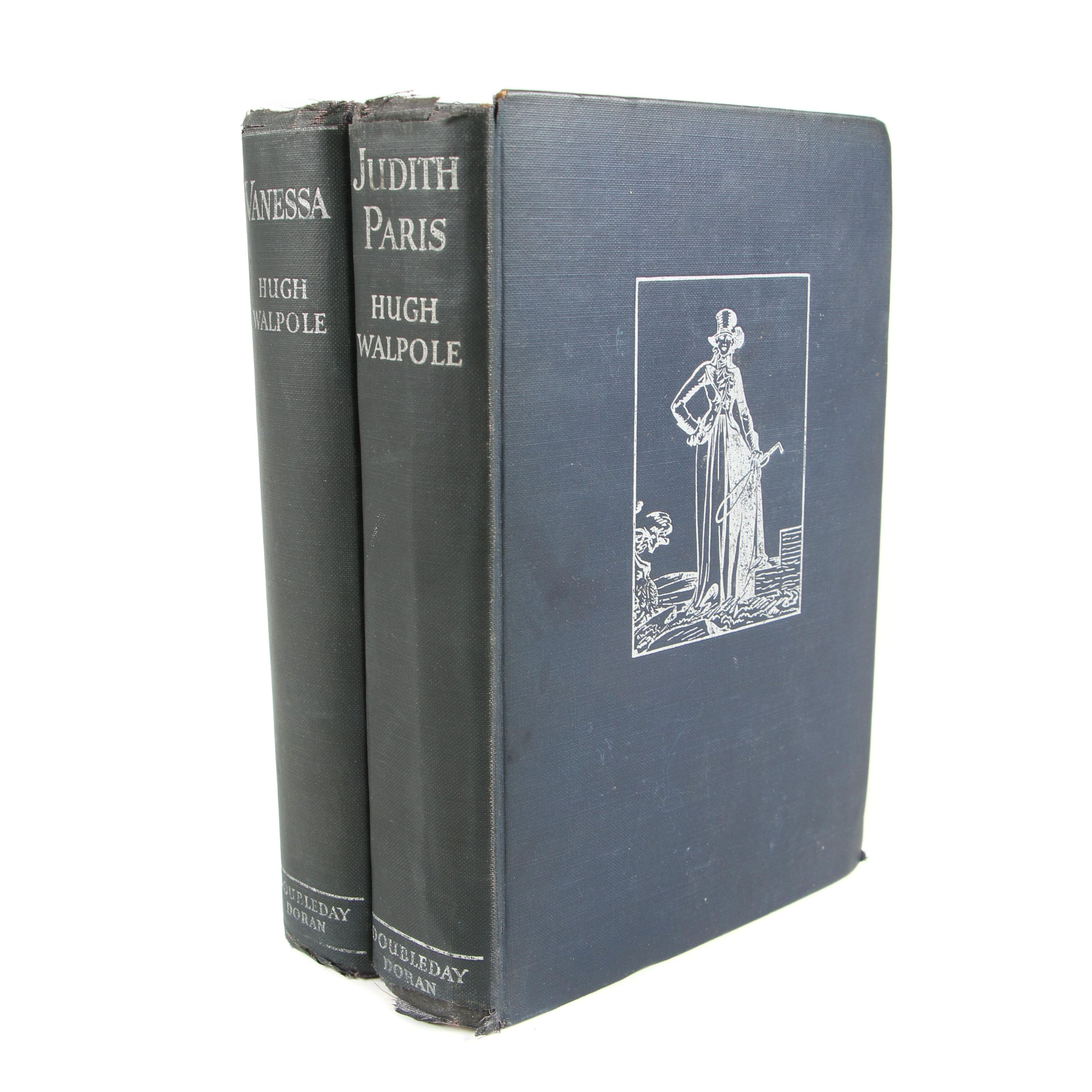 """First Edition """"Judith Paris"""" and """"Vanessa"""" by Hugh Walpole, 1931 and 1933"""