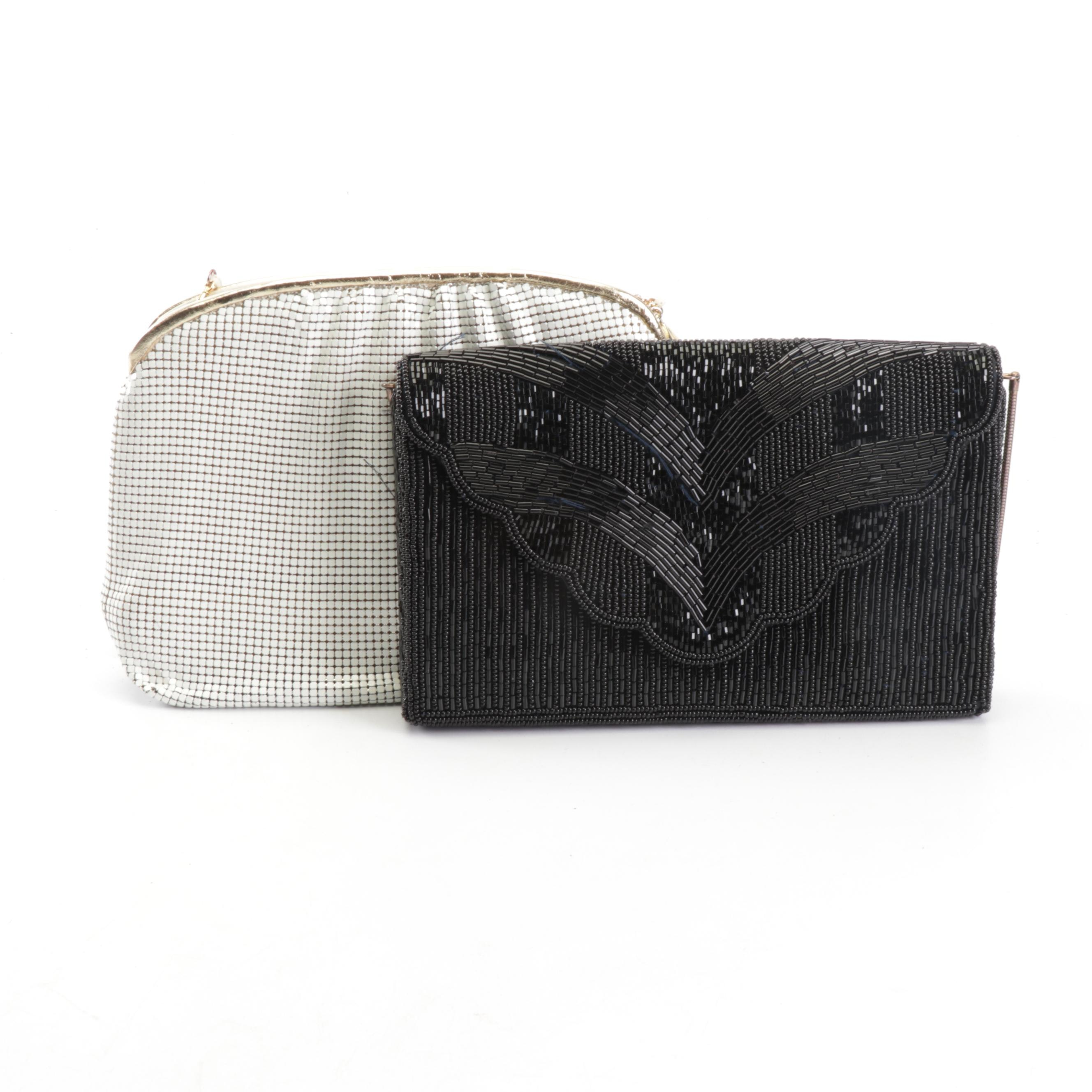 Whiting and Davis Enameled Mesh and Marshall Field's Beaded Evening Bags